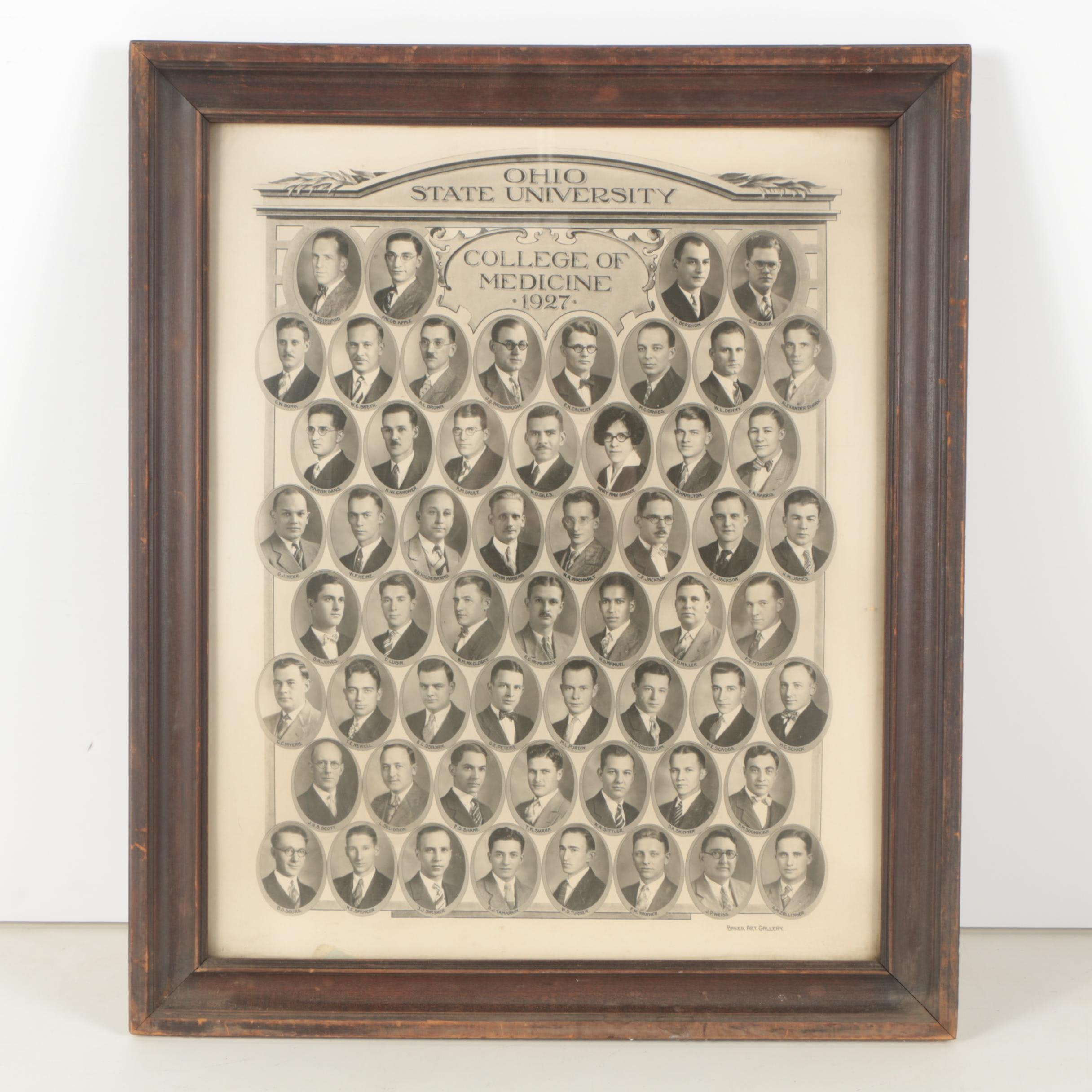 Silver Reproduction Photograph of Ohio State University Medical School