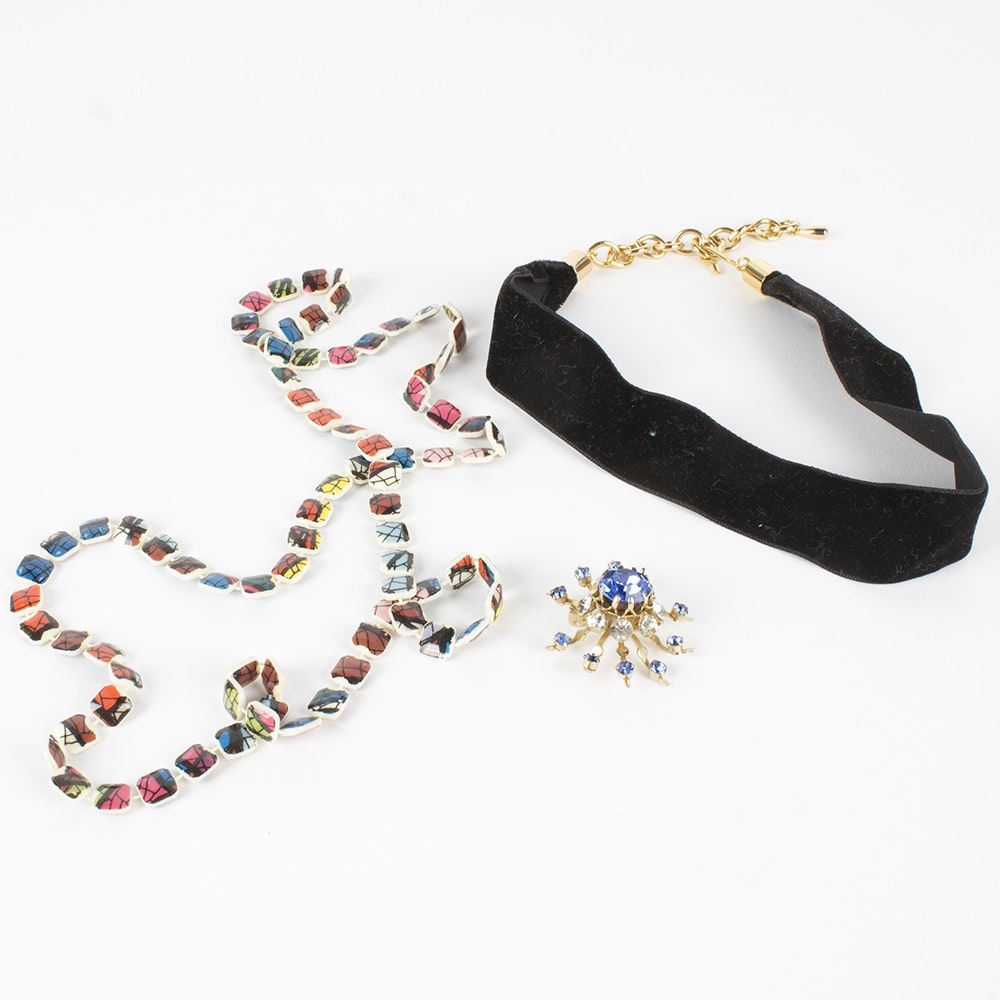Collection Of Costume Jewelry Featuring Coro