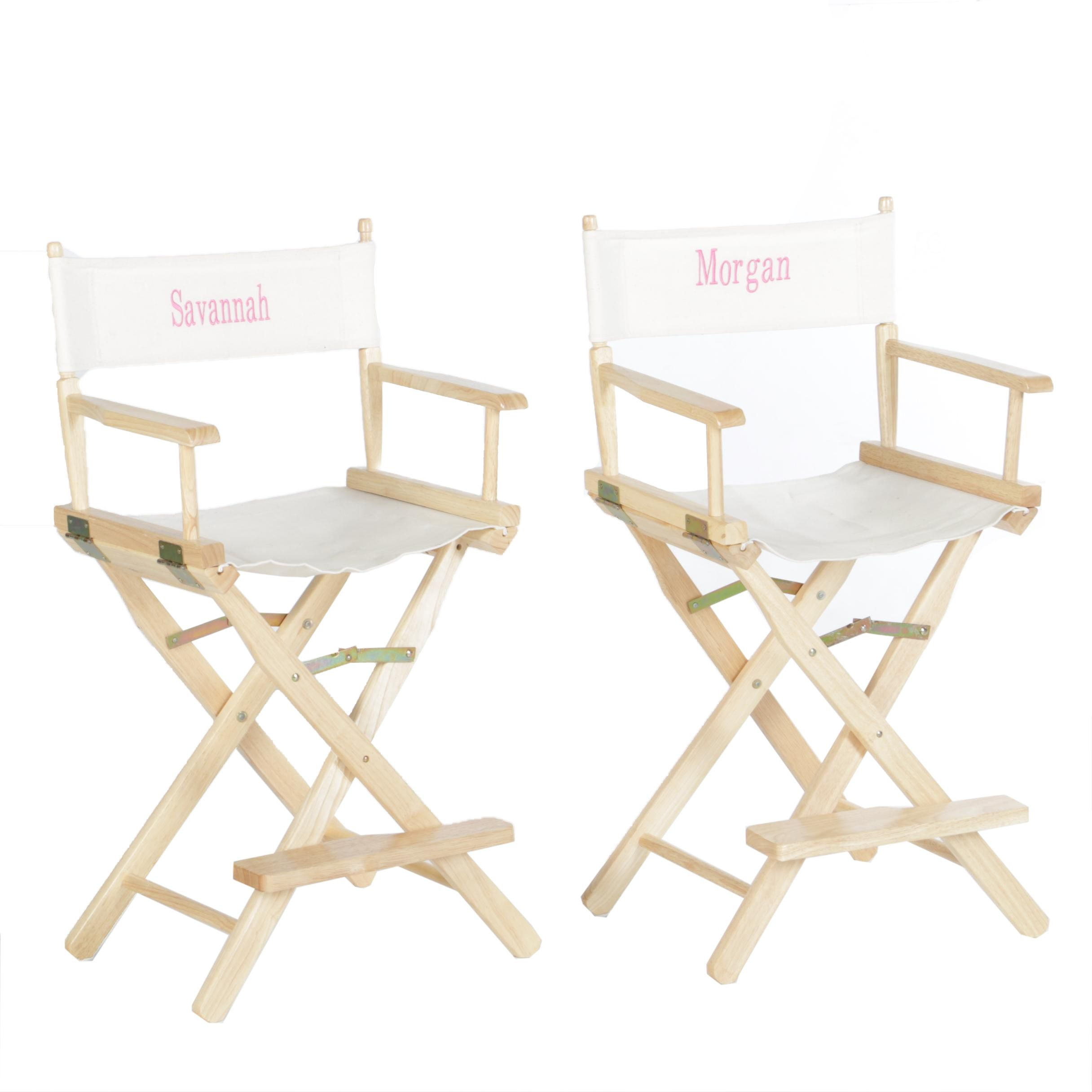 Pair of Folding Director's Chairs by World Market