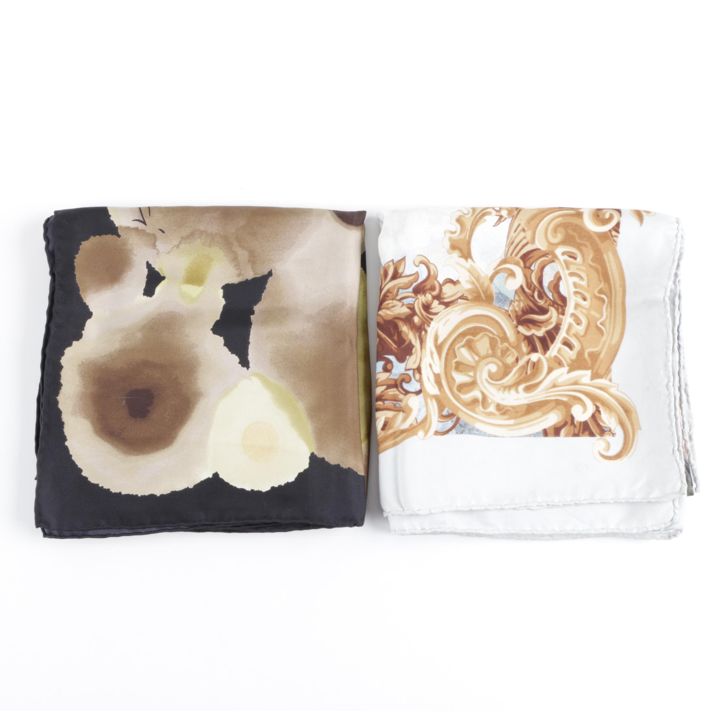 Gucci and Gianfranco Ferre Silk Scarves