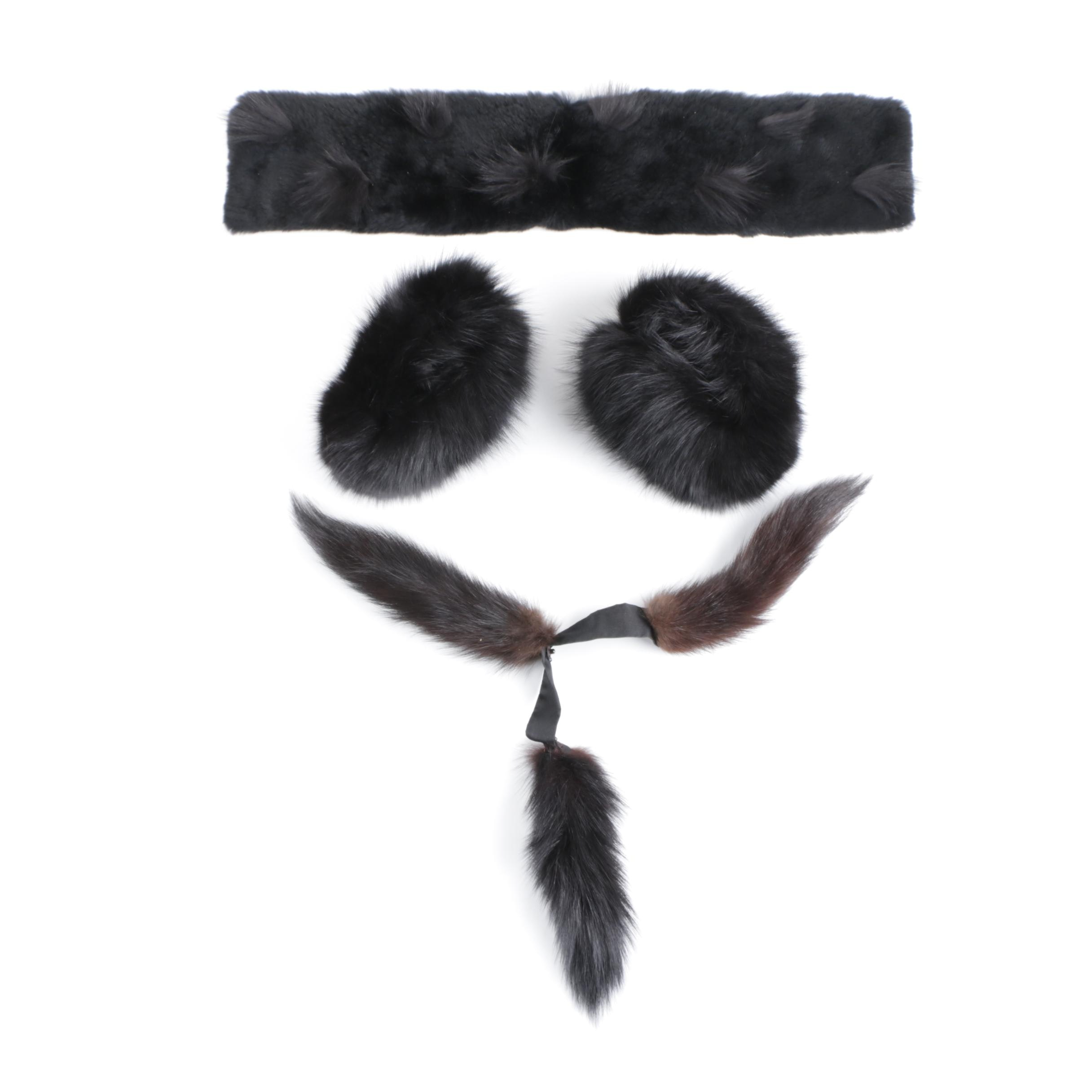 Dyed Fur Accessories