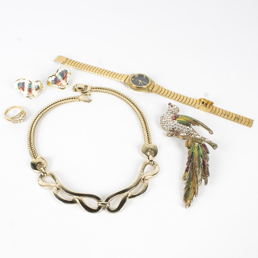 Gold Tone Costume Jewelry Collection