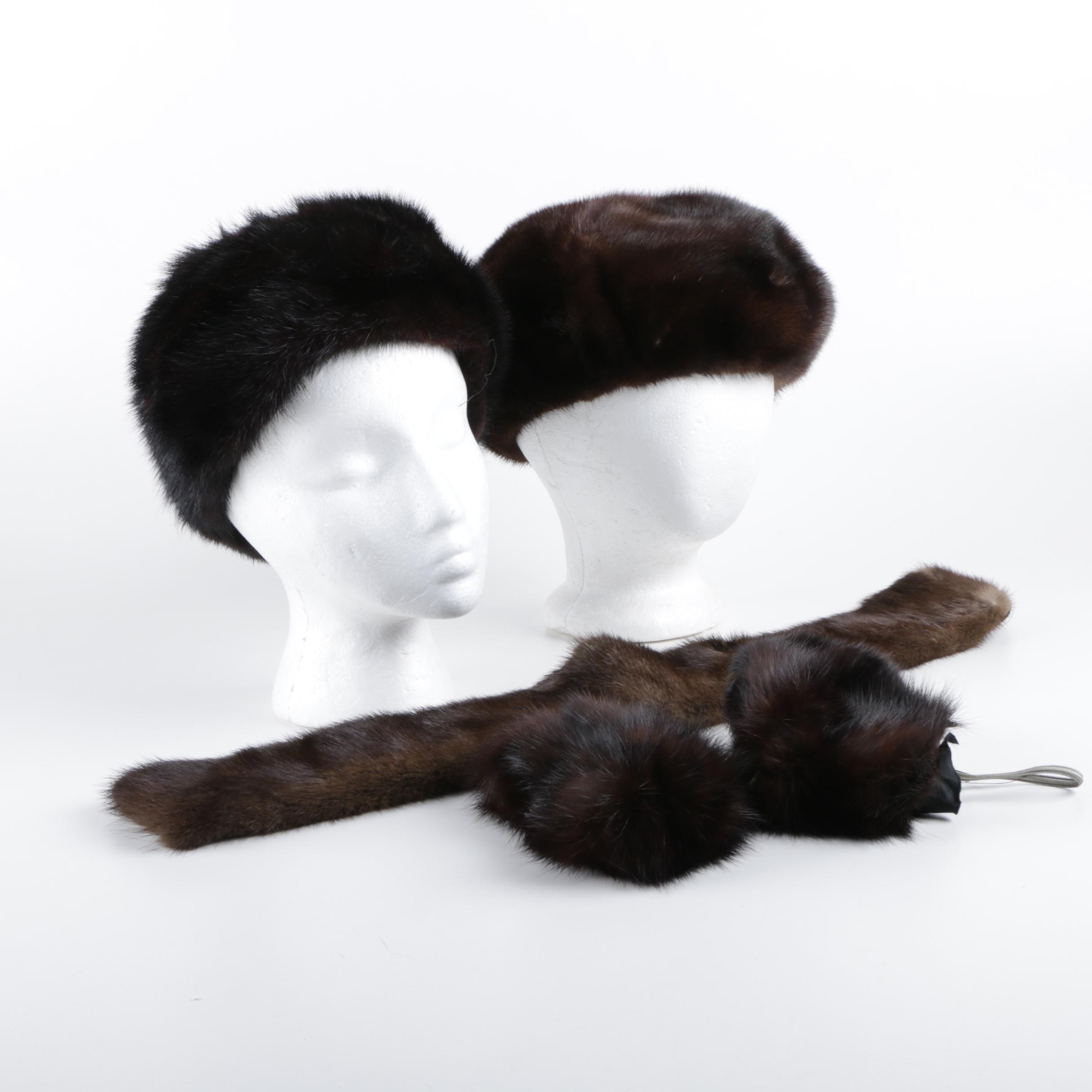 Women's Mink and Fox Fur Accessories