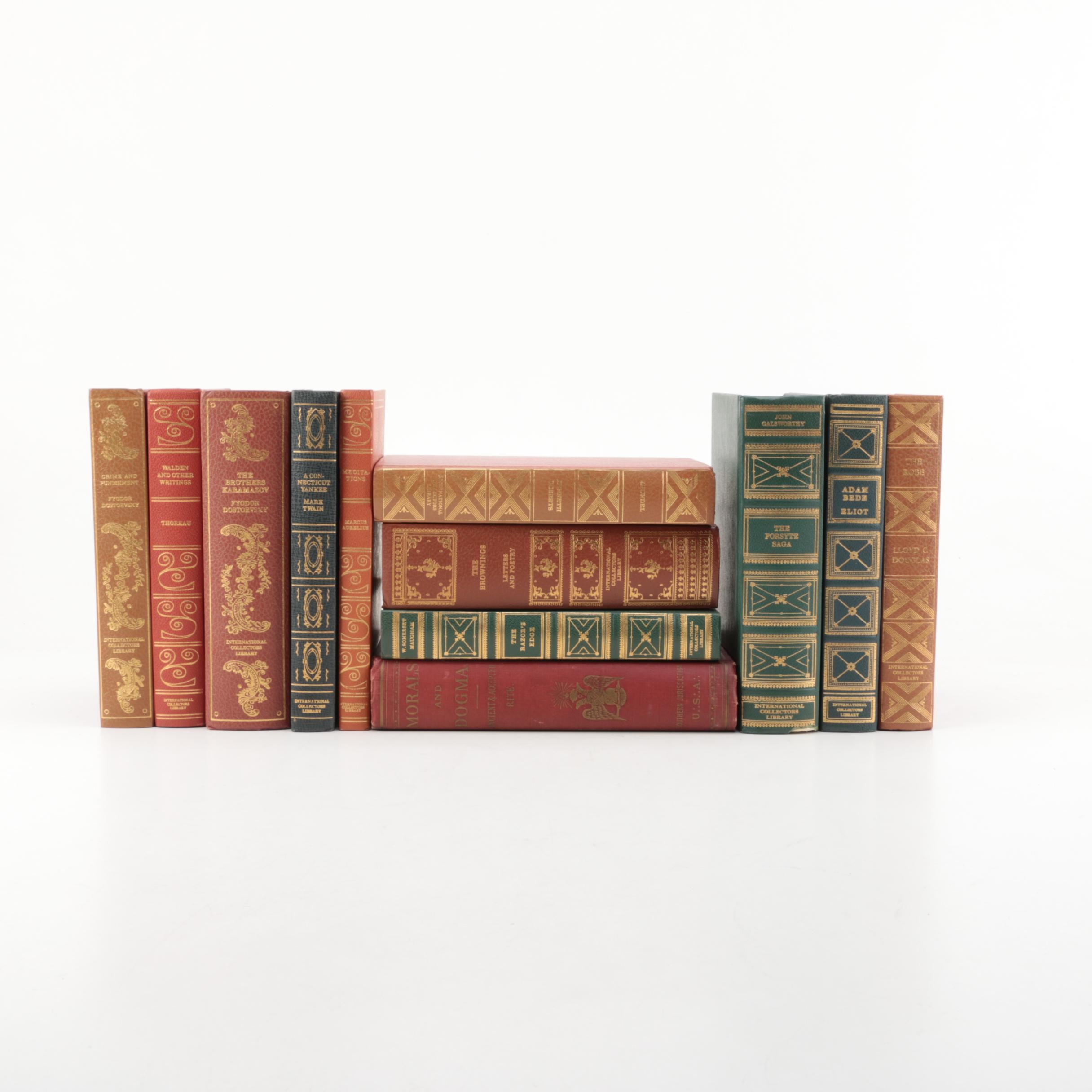 International Collectors Library Books, Including Twain, Thoreau and Others
