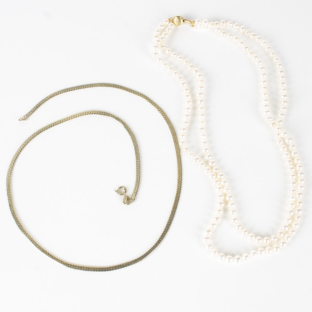 14K Yellow Gold Necklace Set
