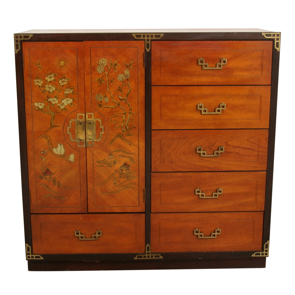 Asian Style Chinoiserie Chest by Bassett