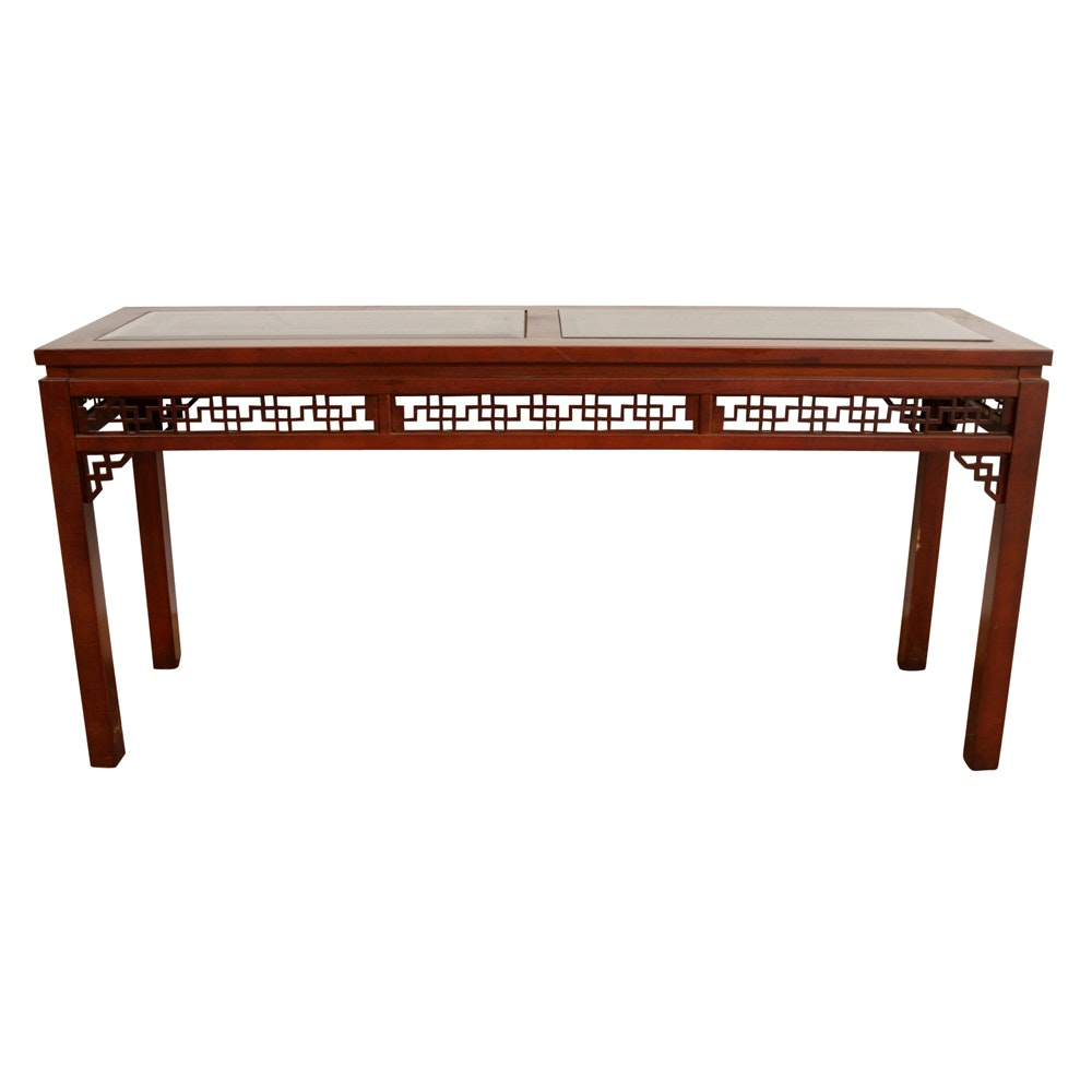 Chinese Style Mahogany Console Table