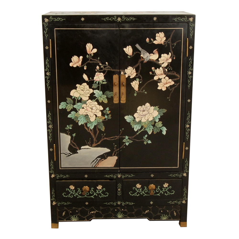 Chinese Coromandel Decorated Cabinet