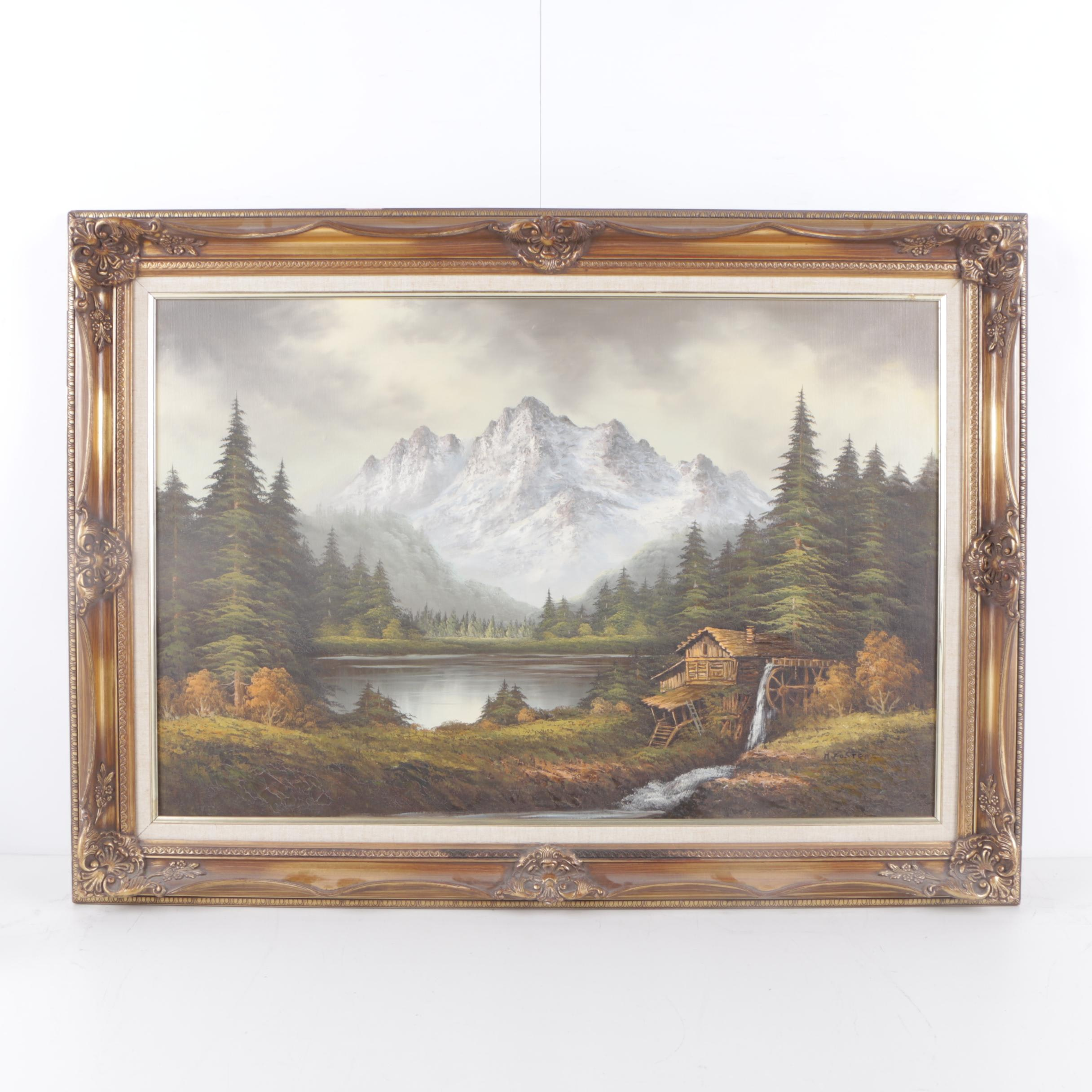 H. Foster Oil Landscape Painting