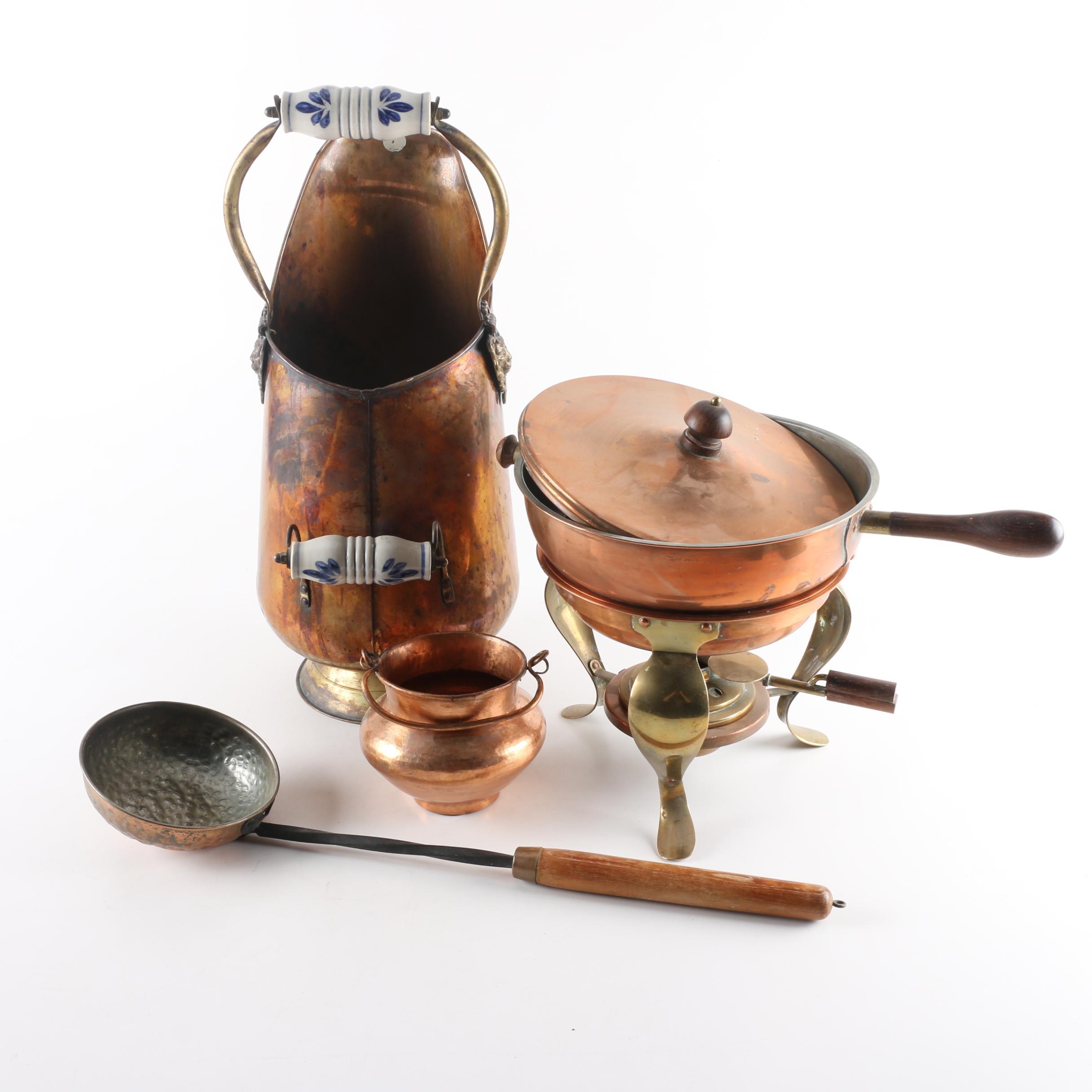 Decorative Copper Coal Bucket and More