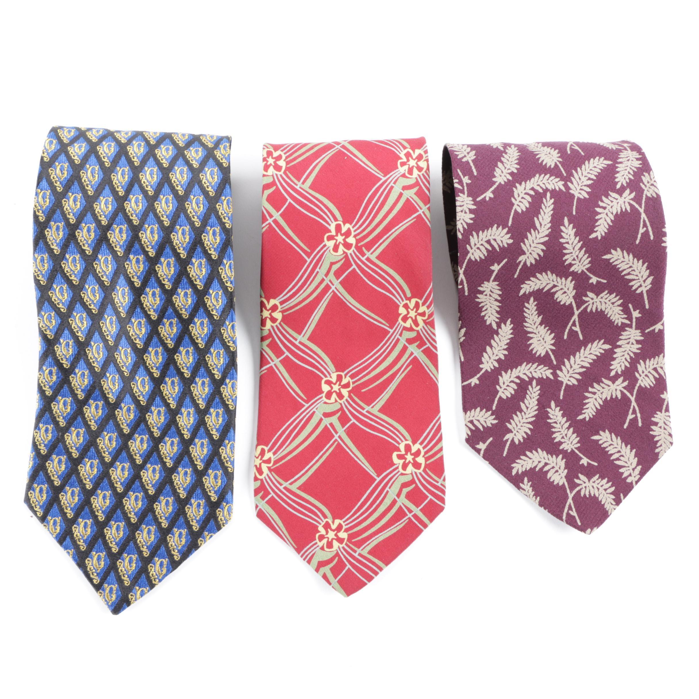 Giorgio Armani and Gianni Versace Silk Neckties