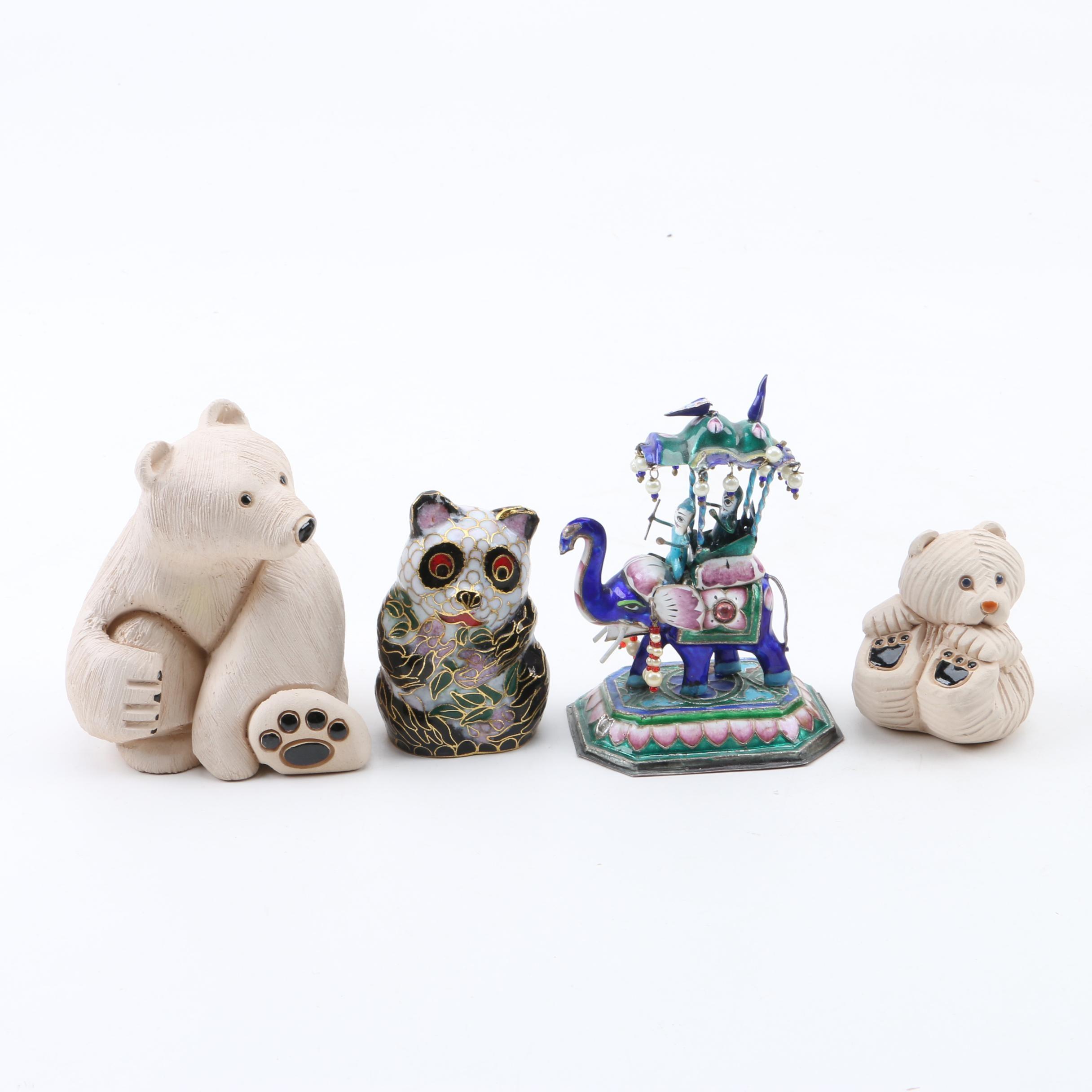 Ceramic and Porcelain Animal Figurines