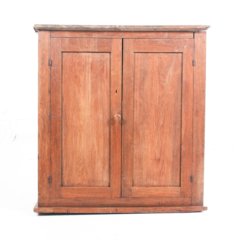Antique Walnut Storage Cabinet