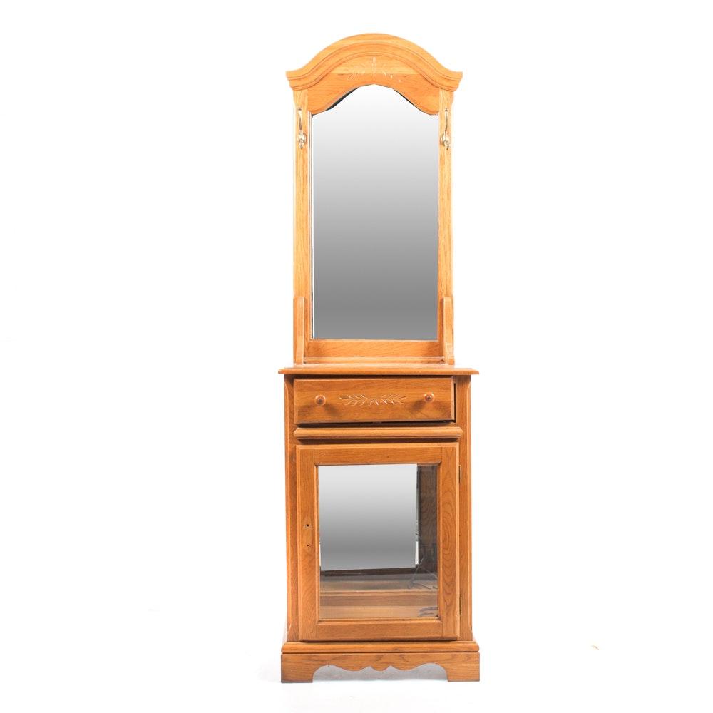 Wood Hall Tree with Mirror