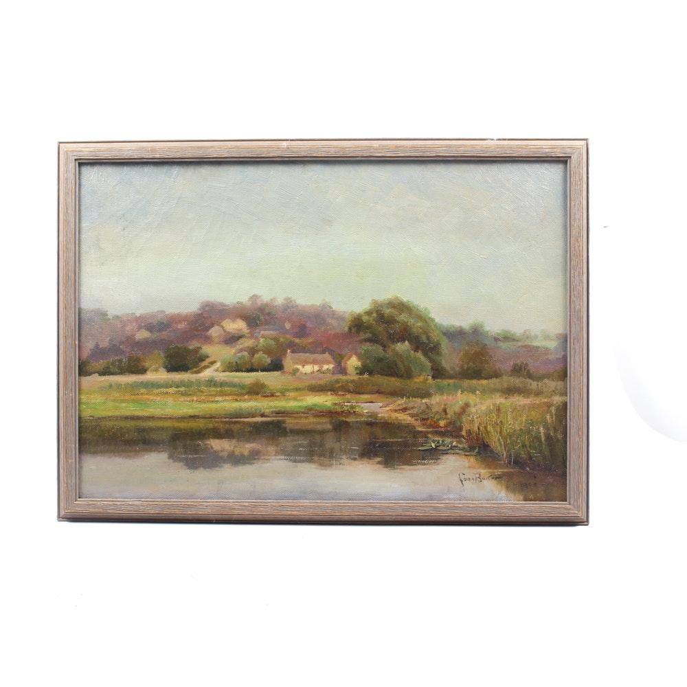 Conn Baker Painting of Rural Landscape