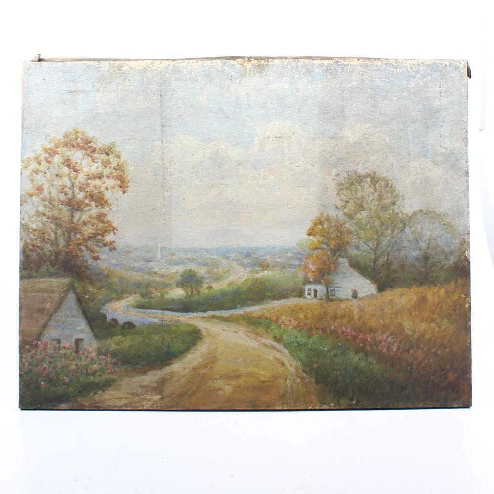 Conn Baker Pastoral Landscape Painting