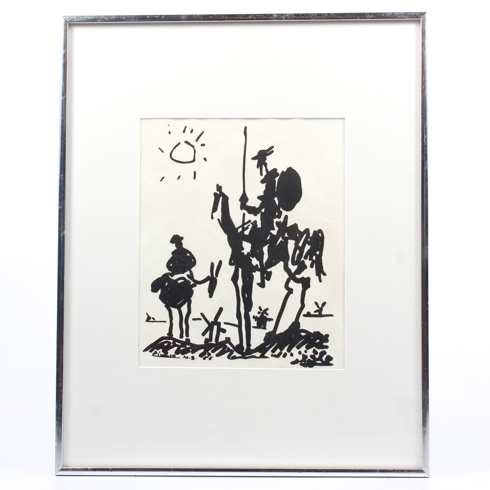 """Lithograph on Paper After Pablo Picasso """"Don Quixote"""""""