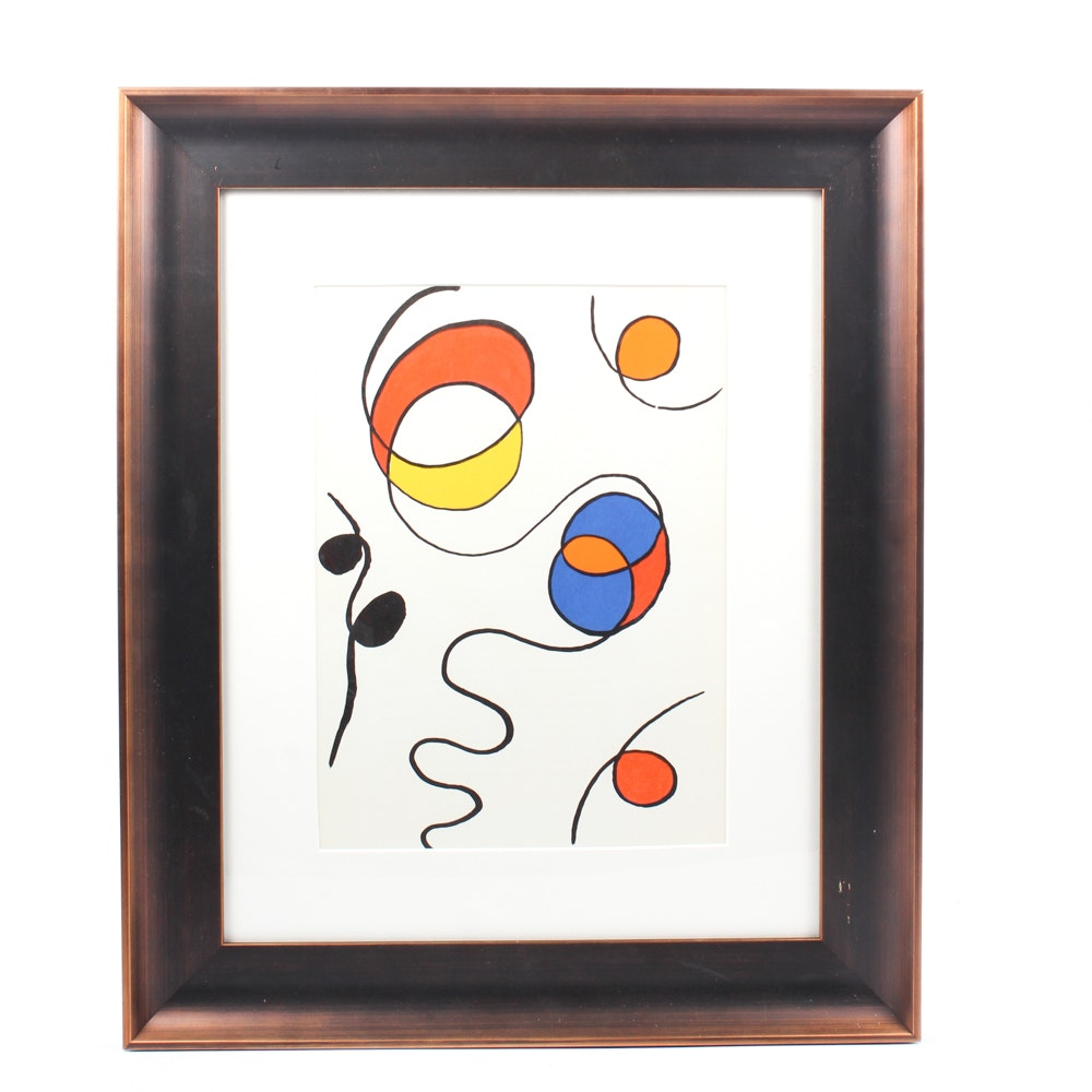 "Alexander Calder Color Lithograph for 1968 ""Derrière le Miroir"""