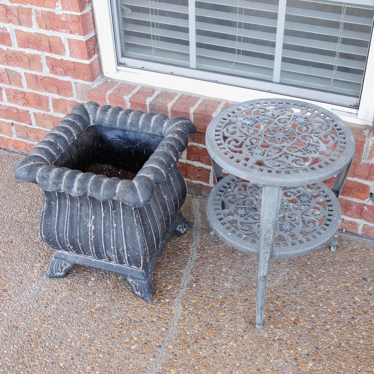 Outdoor Planter and Side Table