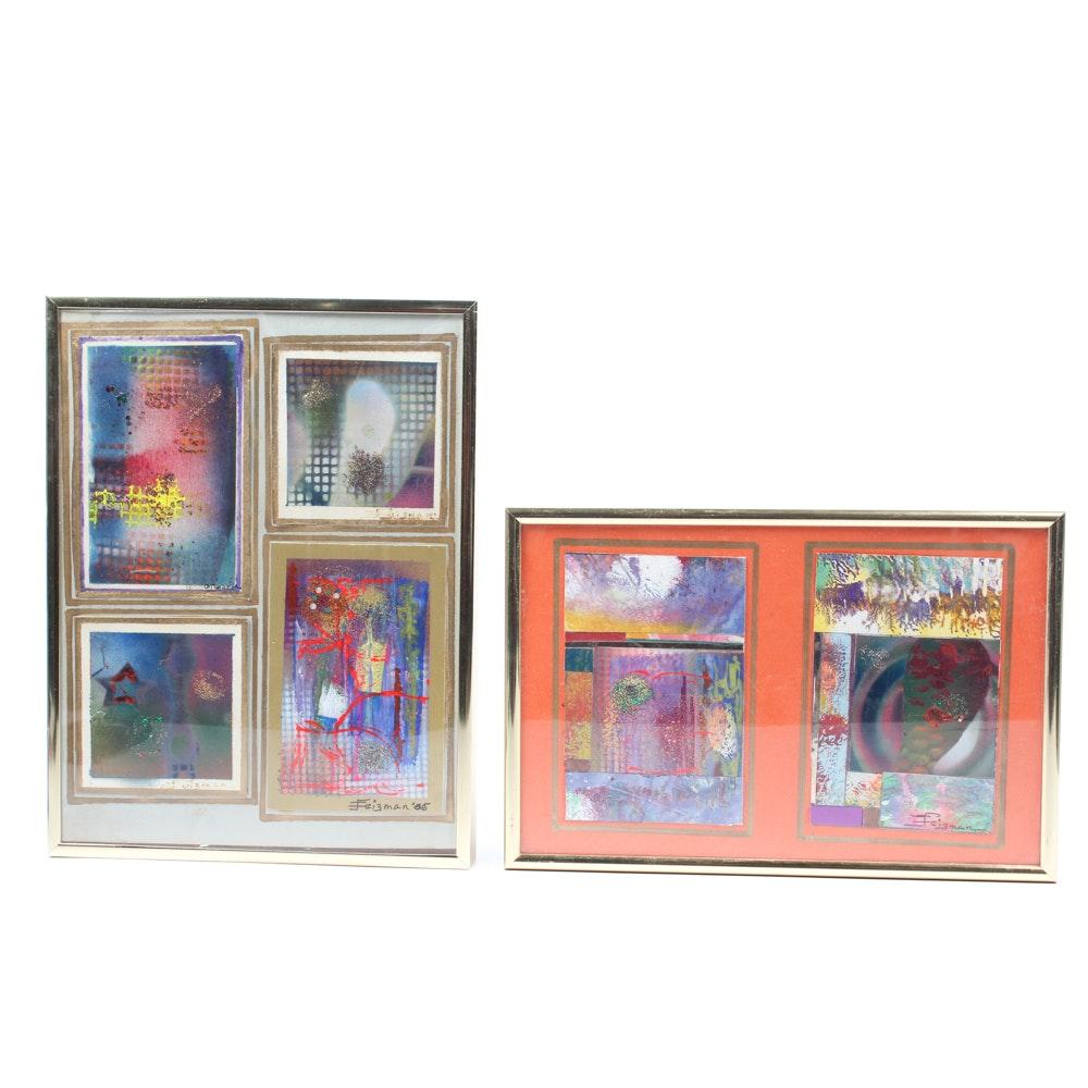 Feizman Abstract Mixed Media Paintings