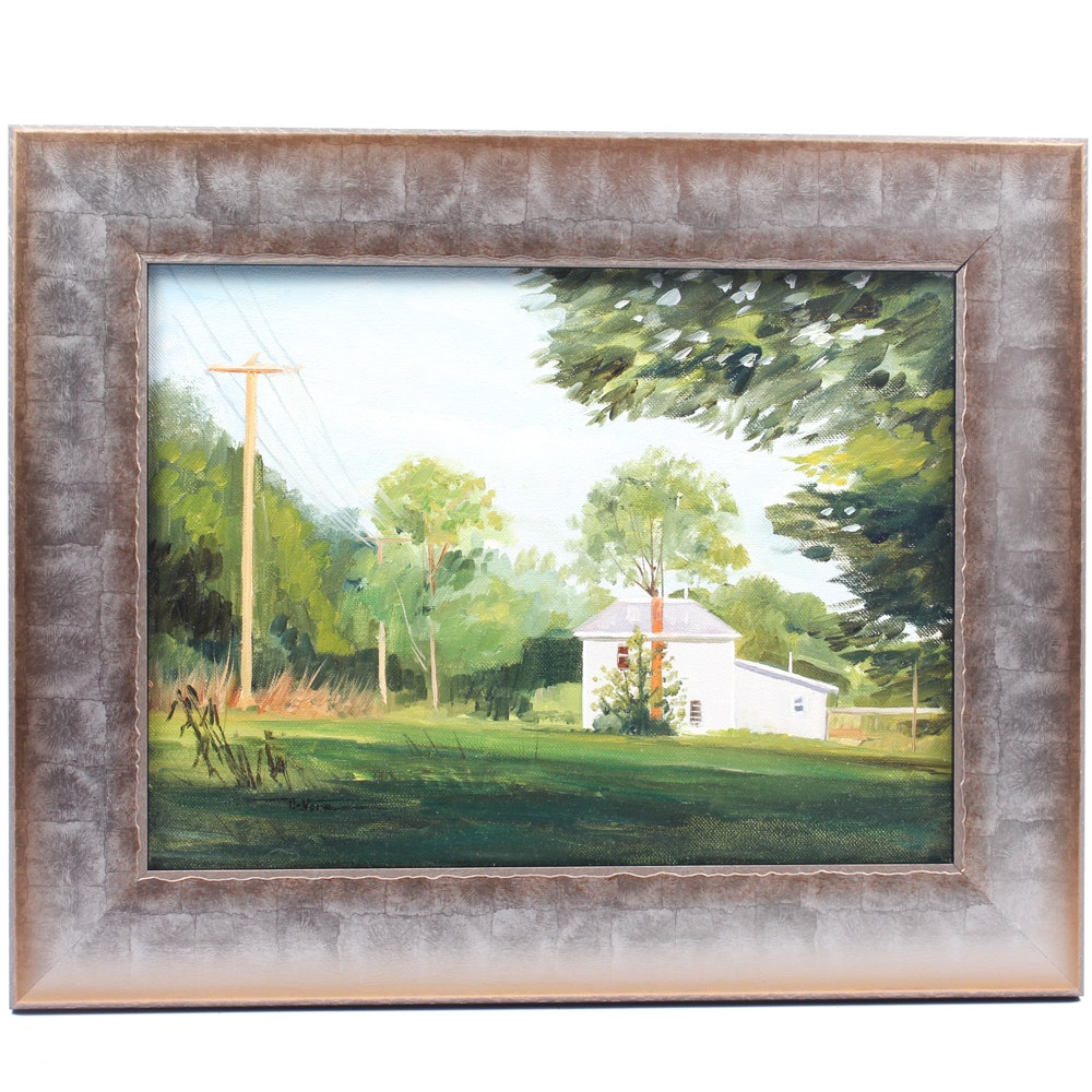 James Devore Oil Painting of House