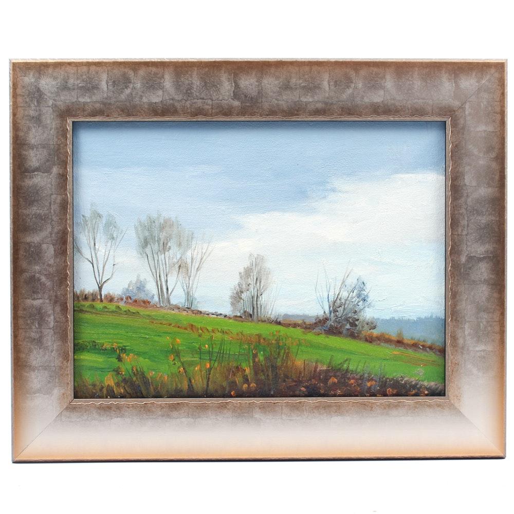 James Devore Oil Painting of Landscape