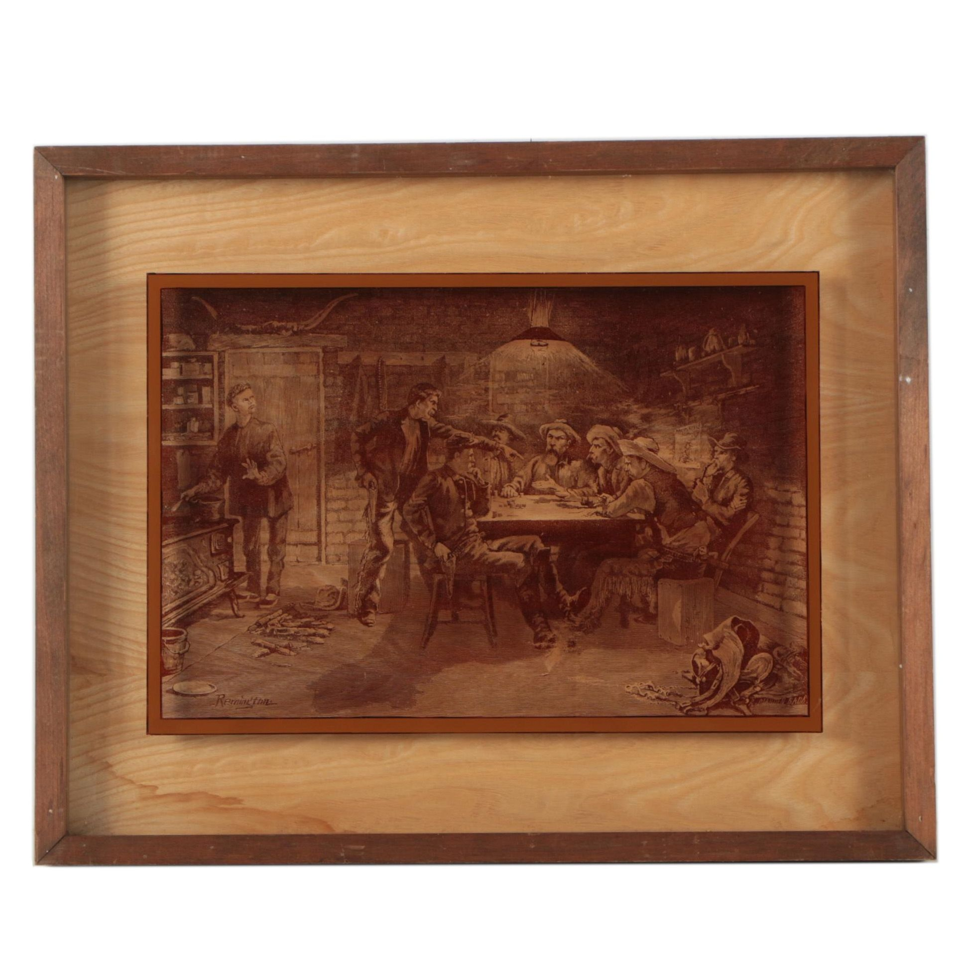 Lucid Lines Inc Reproduction Photograph on Glass after Frederick Remington