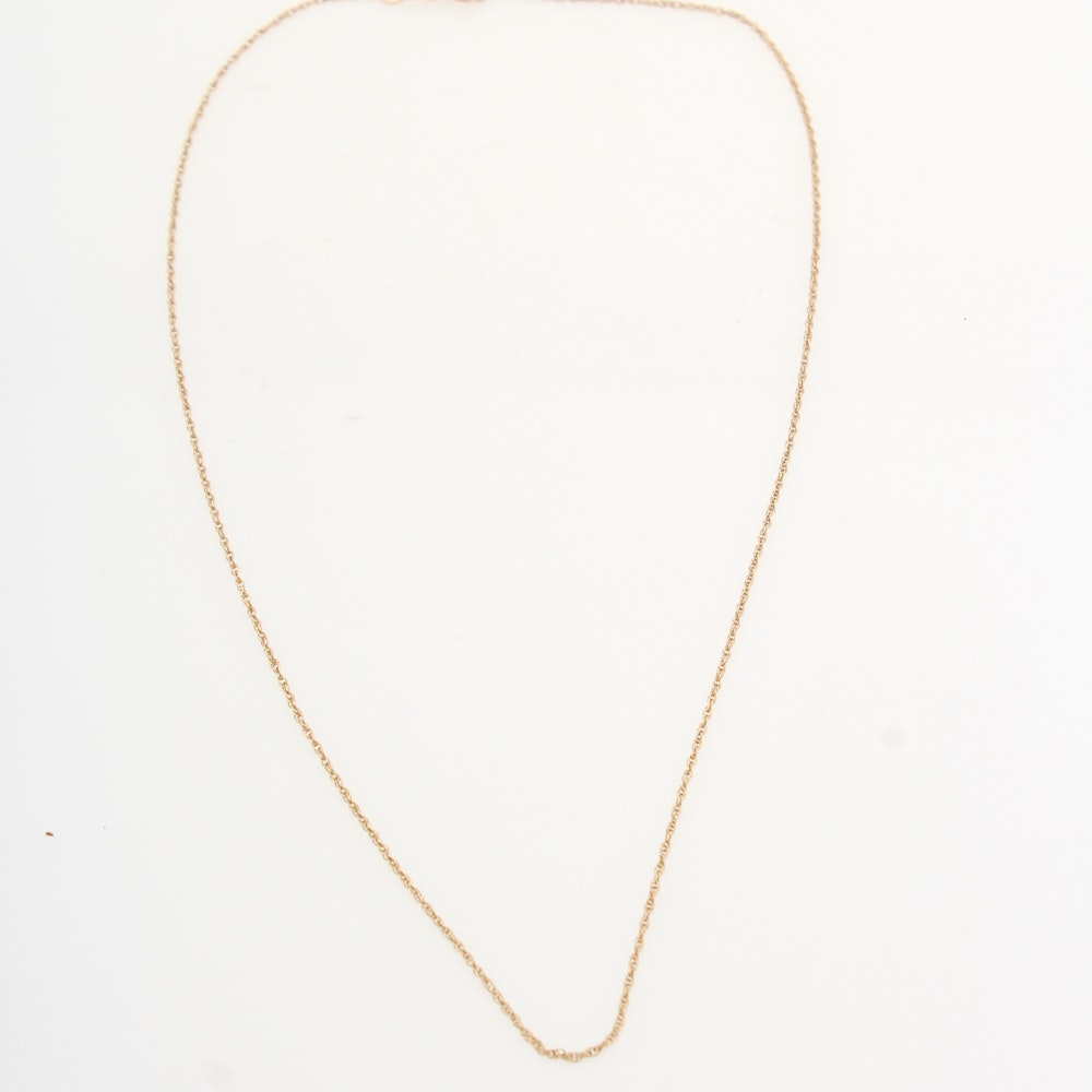 14K Yellow Gold Necklace Chain