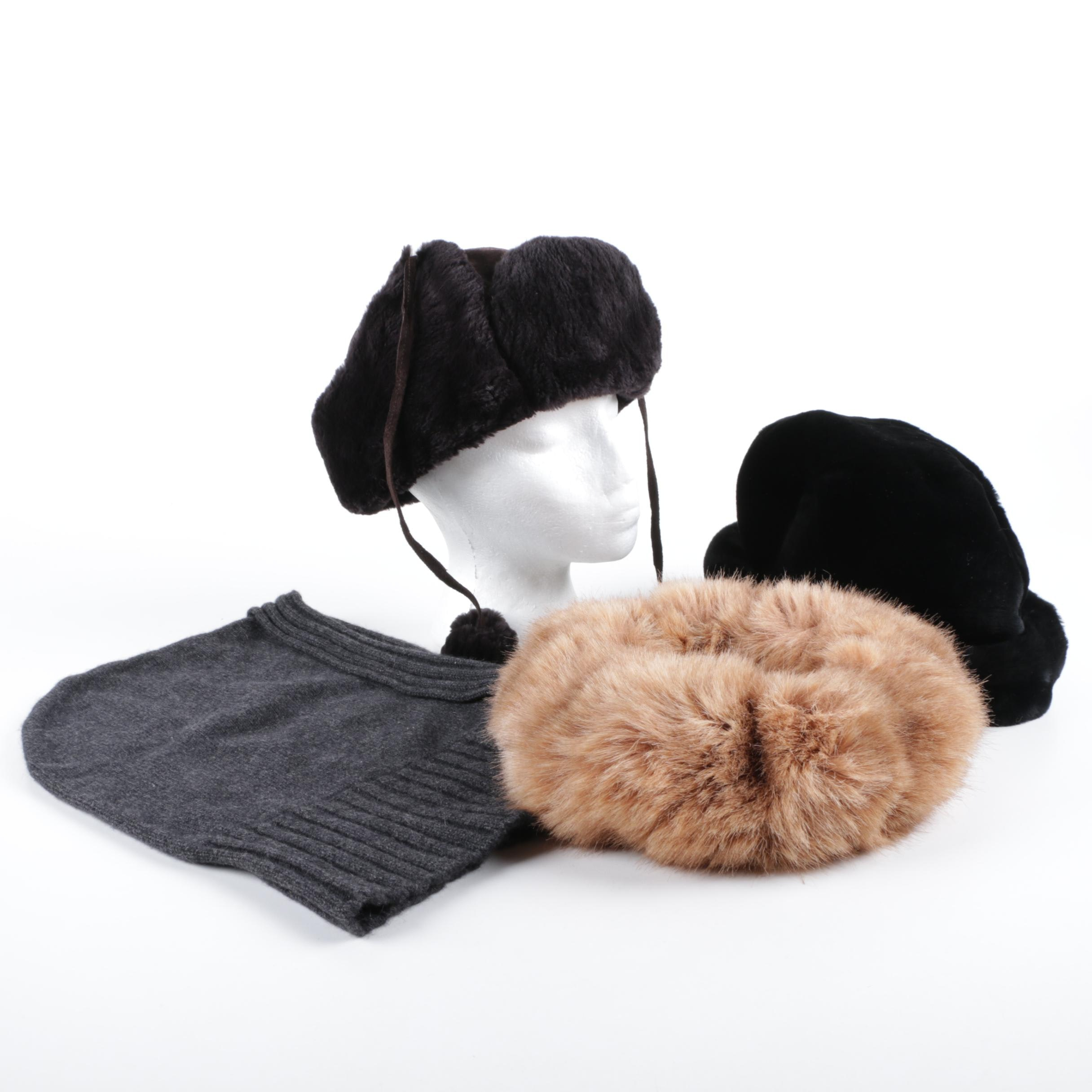 Winter Fur and Cashmere Hats and Accessories Including Conte of Florence
