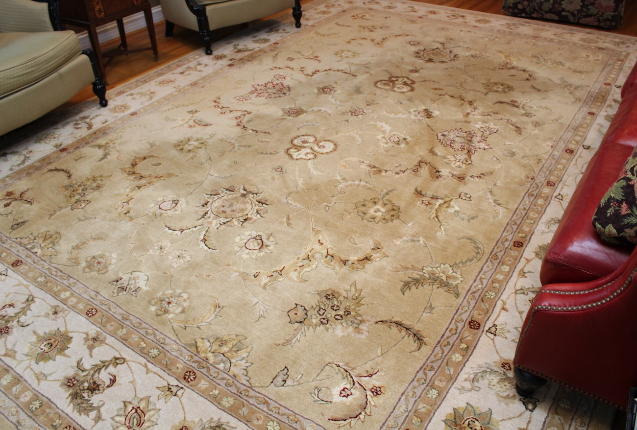 Nourison 3000 Persian-Style Wool and Silk Room Sized Rug