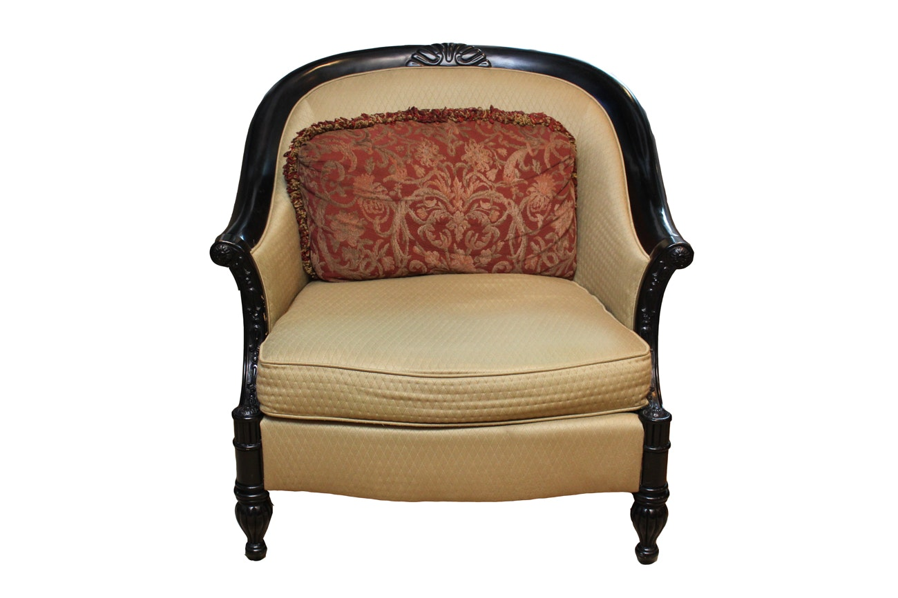 Bernhardt French Style Upholstered Armchair