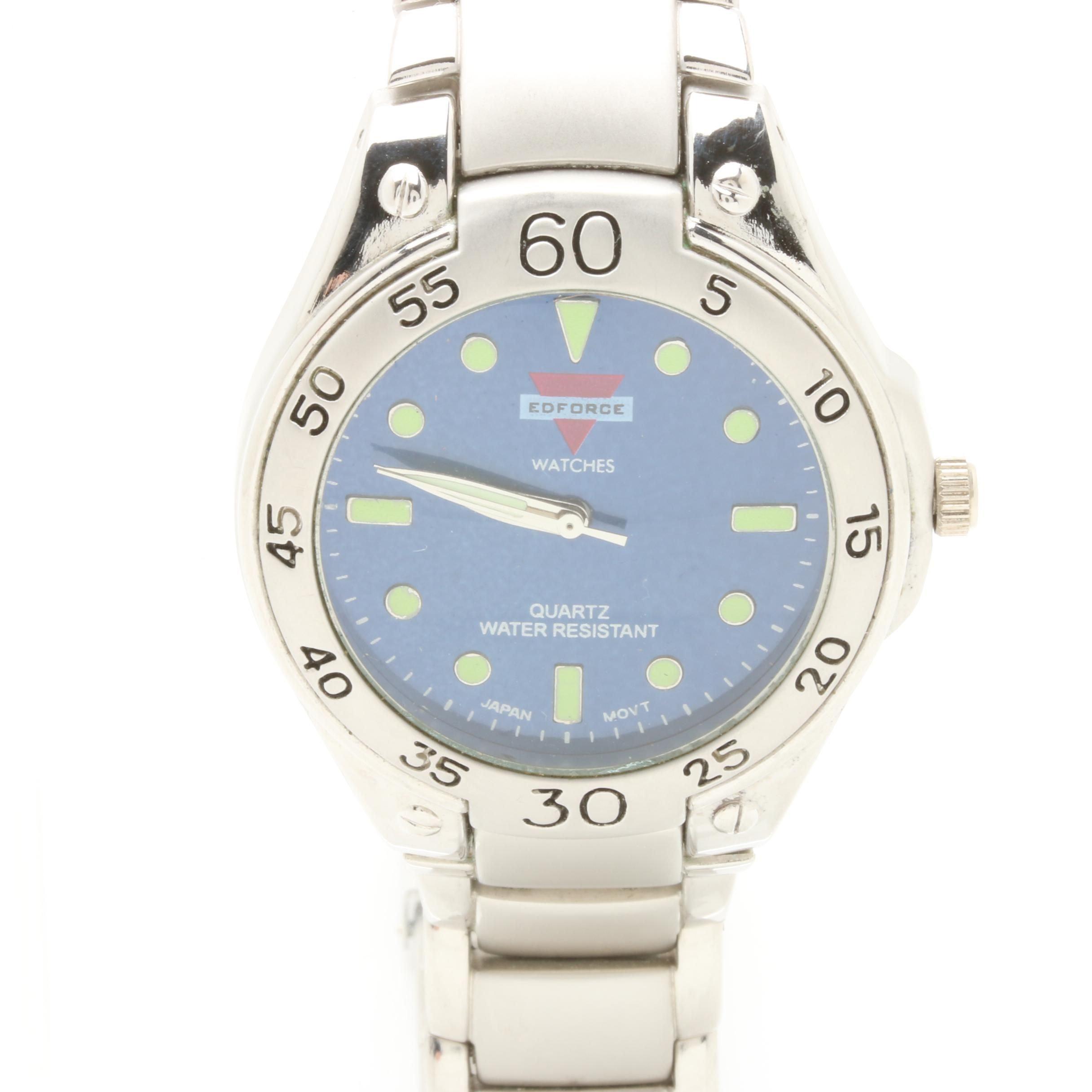 Edforce Silver Tone Wristwatch