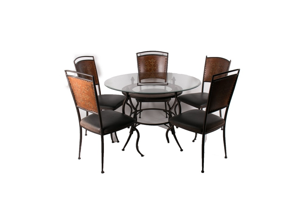 Contemporary Spanish Style Metal Table and Chairs