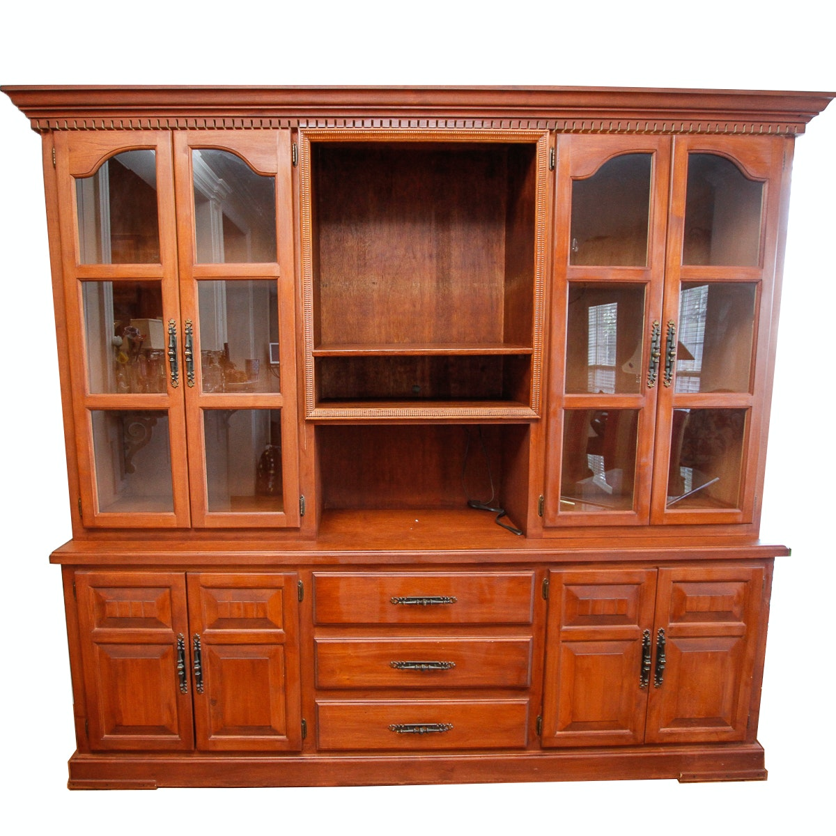 Colonial Style Cherry China Cabinet