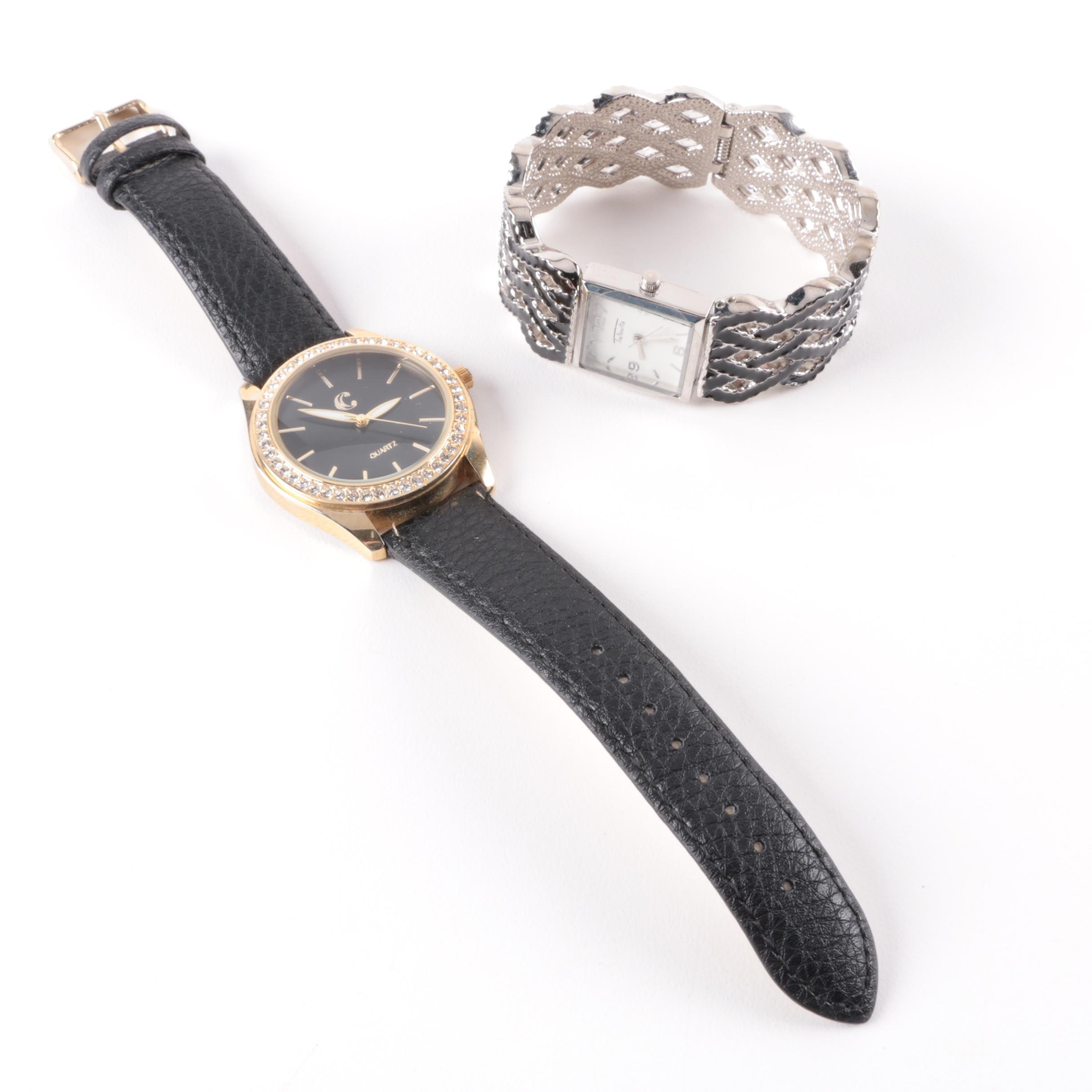 Pair of Wristwatches Including a Hinged Bangle Talbots Watch