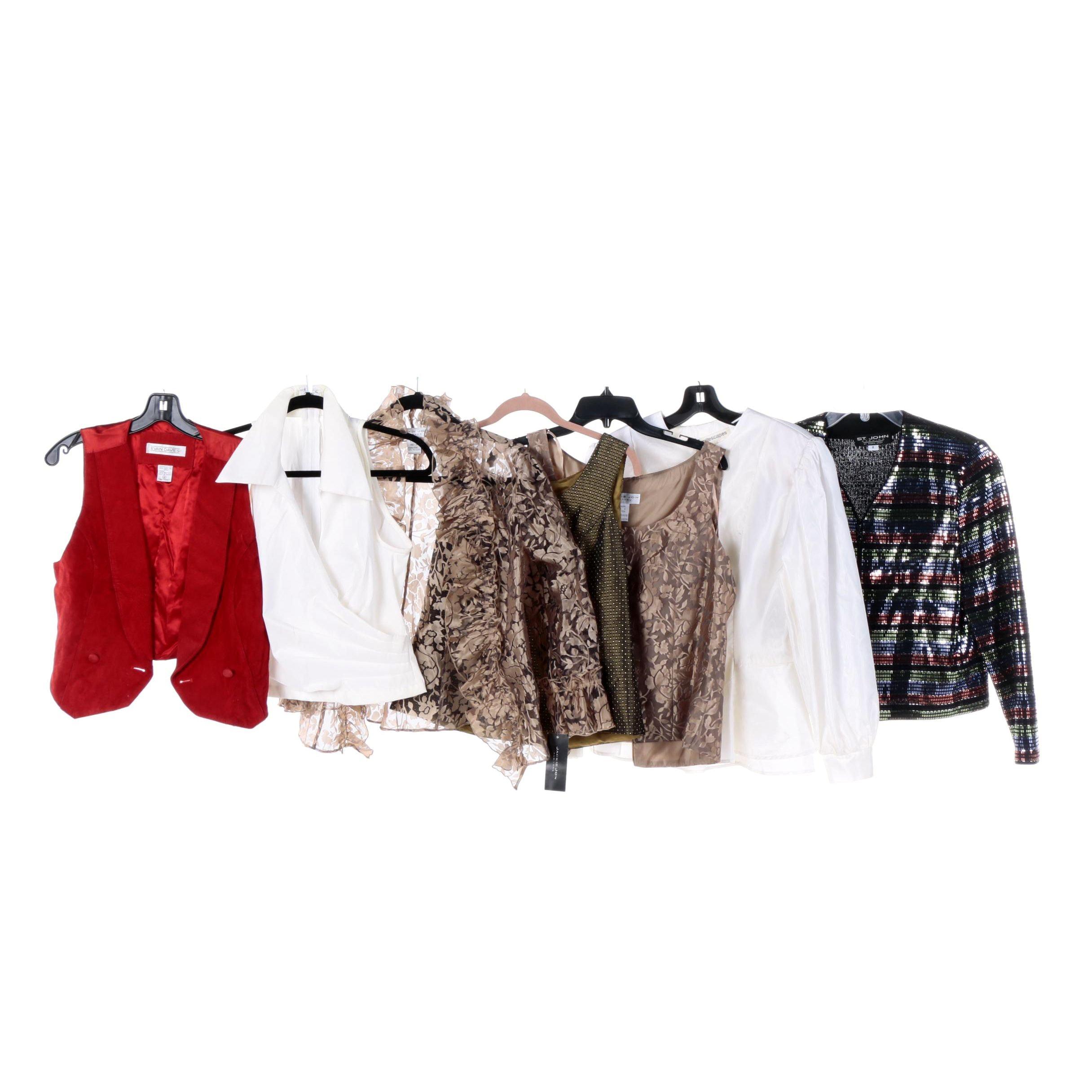 Women's Evening Wear Tops and Jackets Including St. John Evening