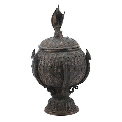 Sino-Tibetan Style Buddhist Lidded Vessel