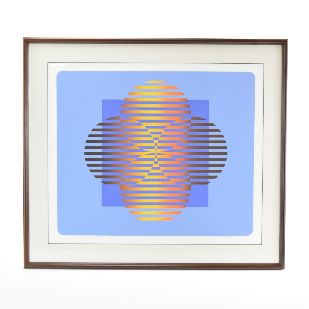 """Rudy Ayoroa Limited Edition Serigraph """"Io Frequency"""""""