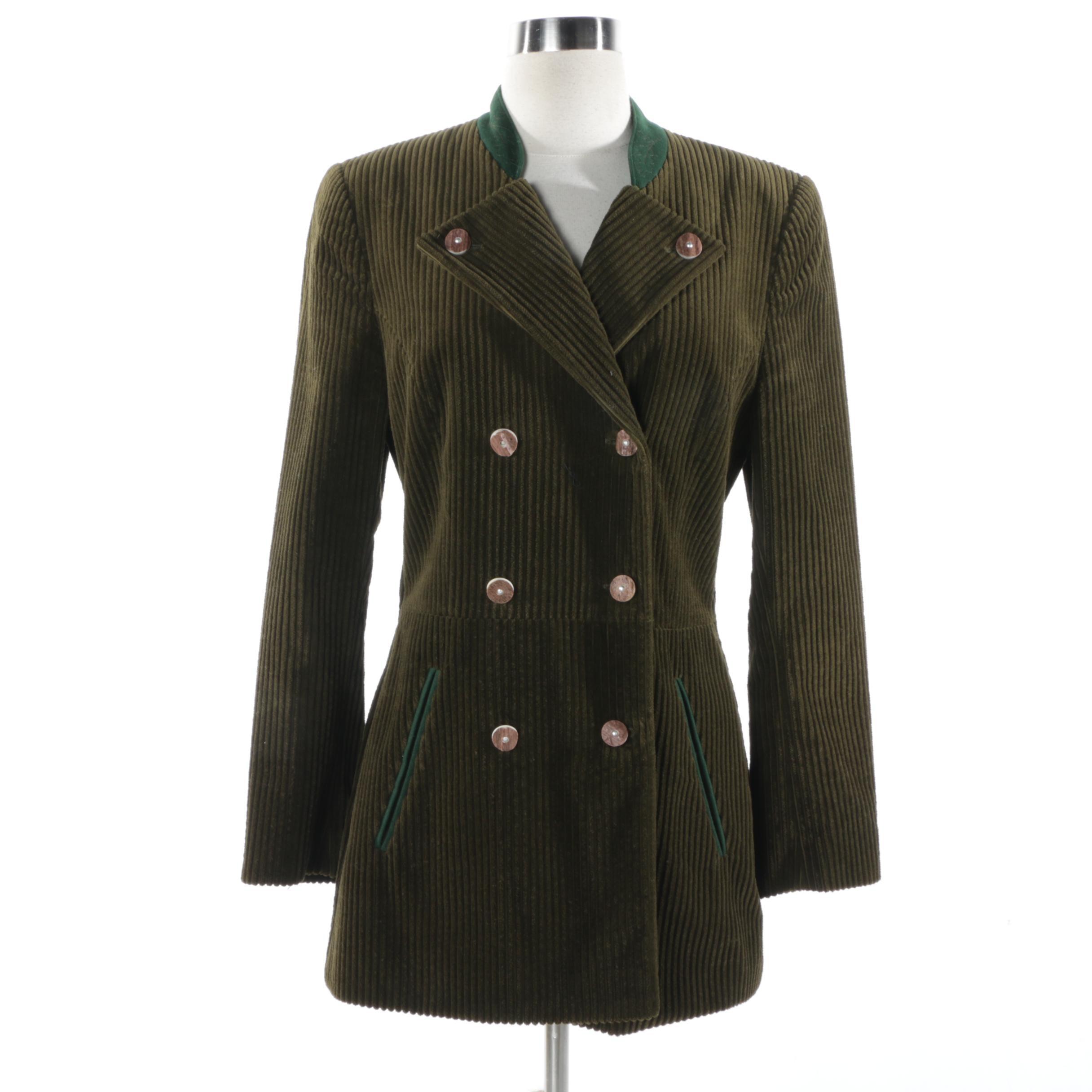 Women's Vintage Country Classics Susanne Von Dörnberg Corduroy Jacket