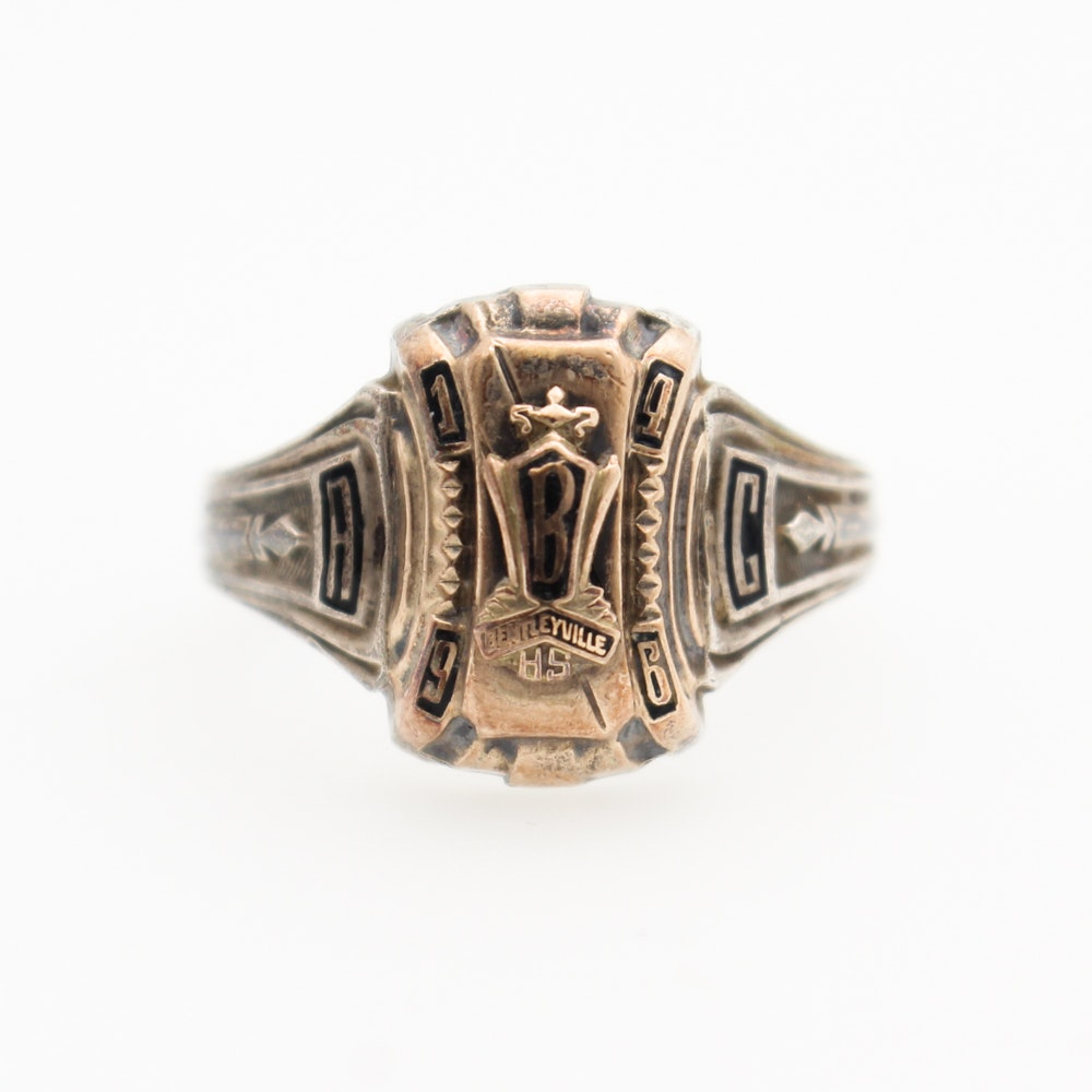 Vintage Sterling Silver Class Ring