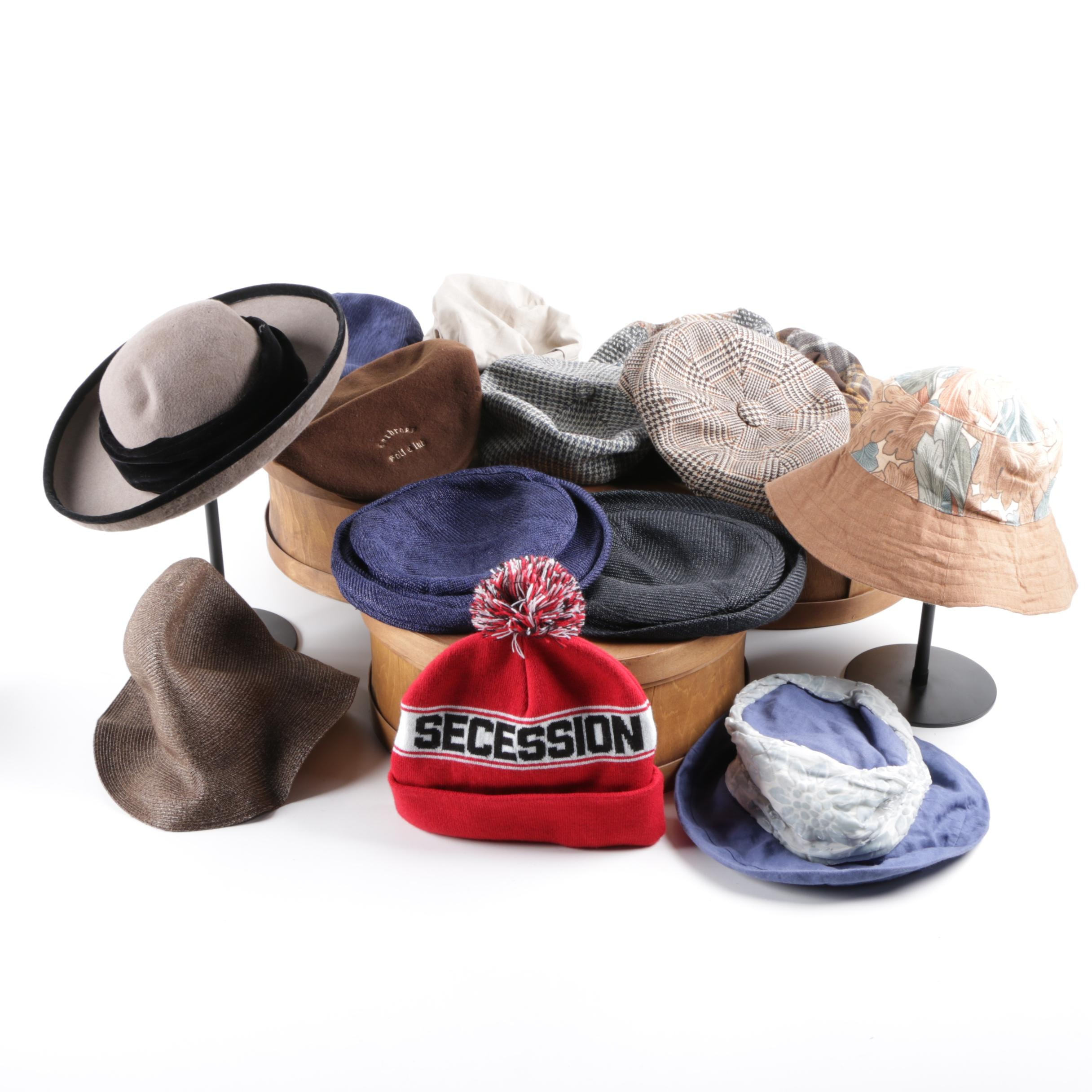 Hat Assortment Including Kangol and Sondra Redmon