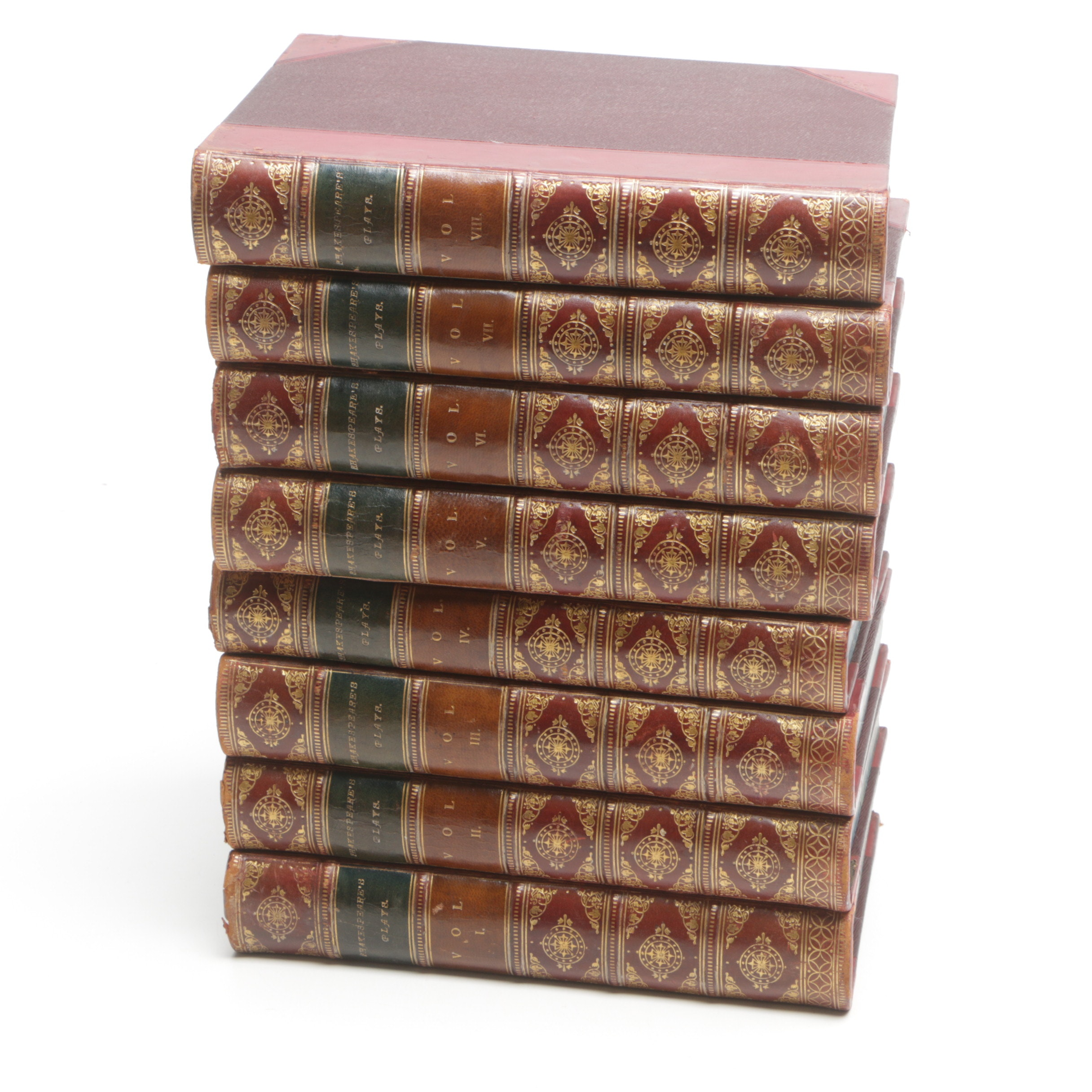 "1883 Eight-Volume ""Dramatic Works of Shakespeare"""