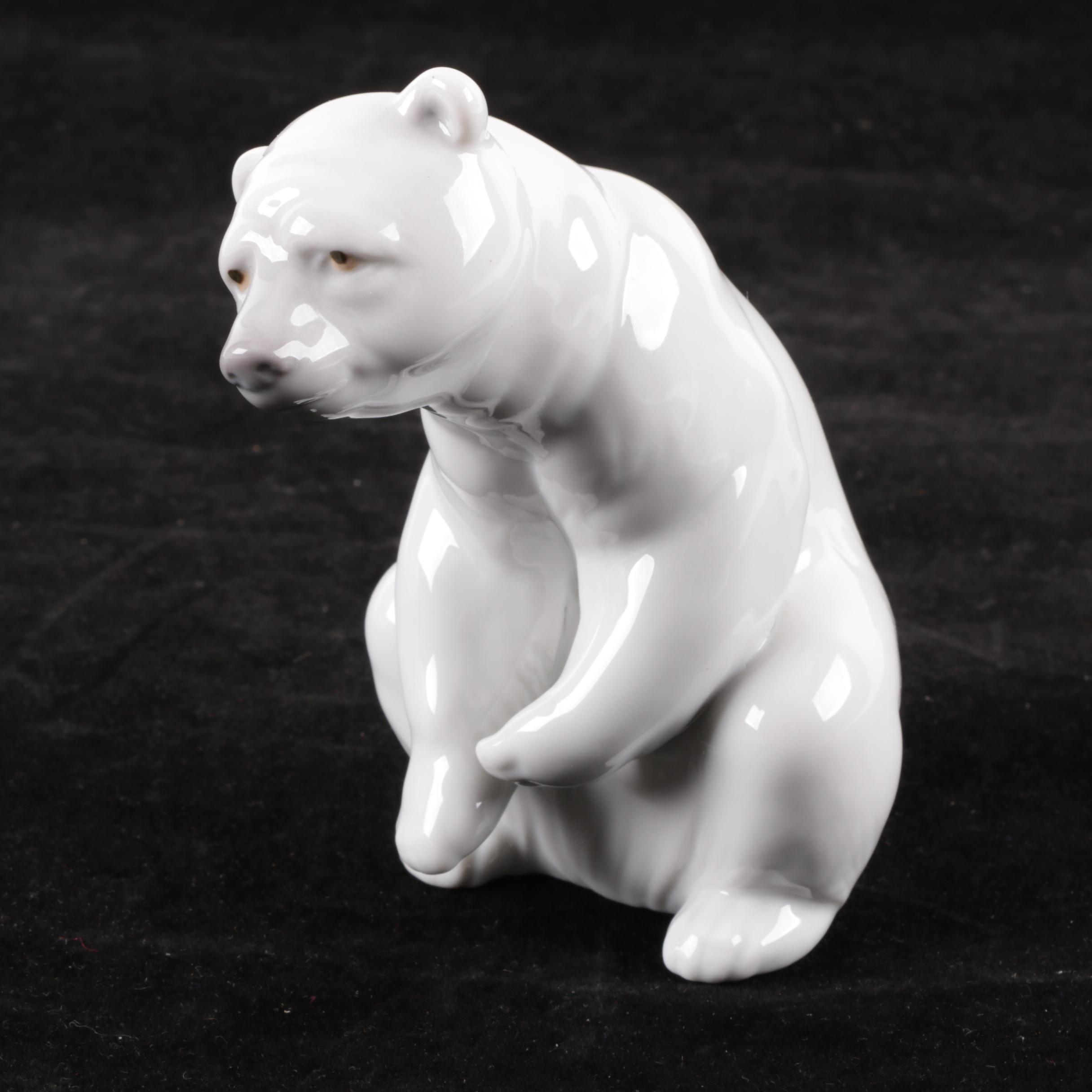 """Lladró """"Resting Polar Bear"""" Figurine"""
