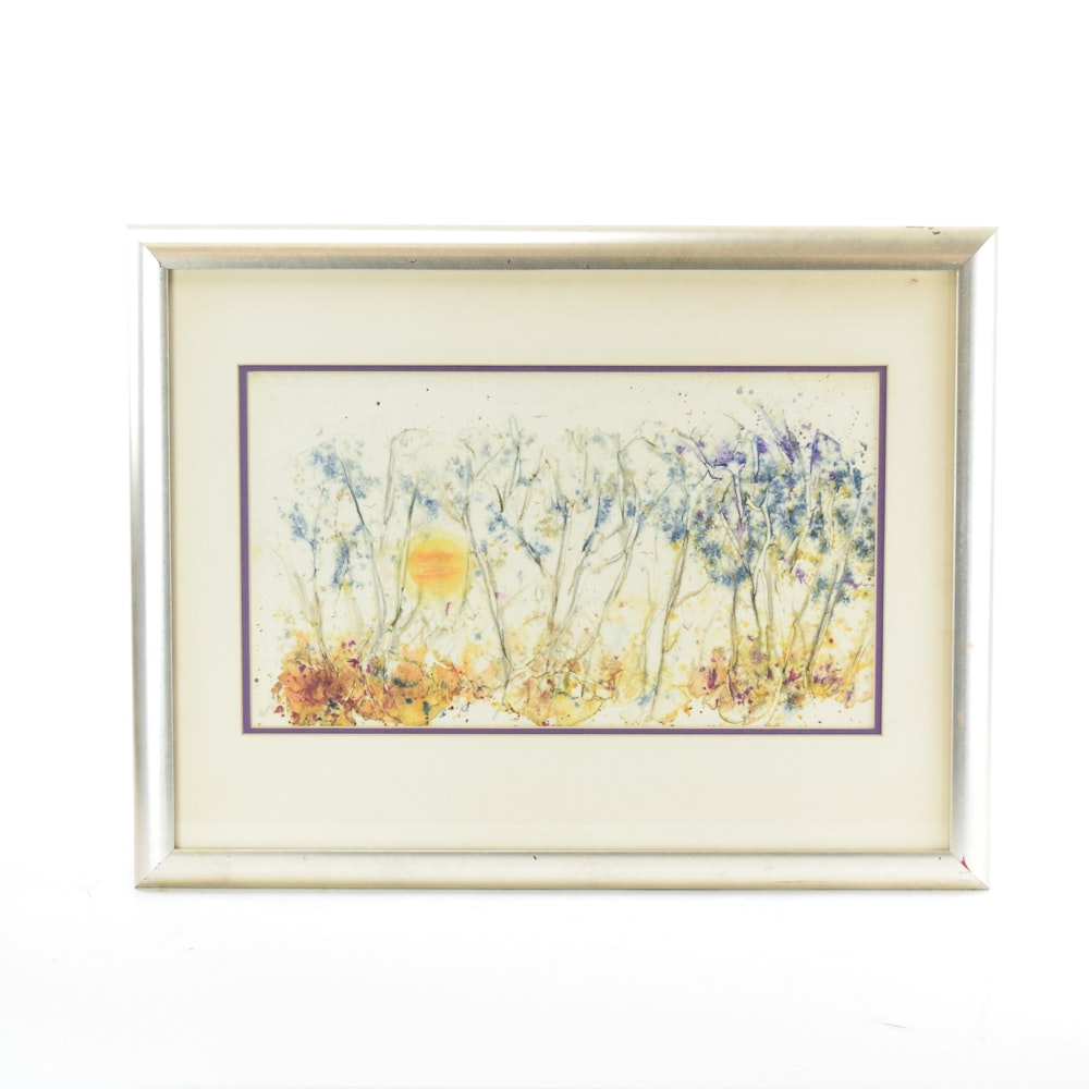 Vintage Abstract Watercolor