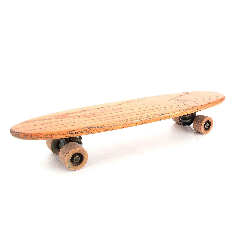 Vintage Small Oak Skateboard