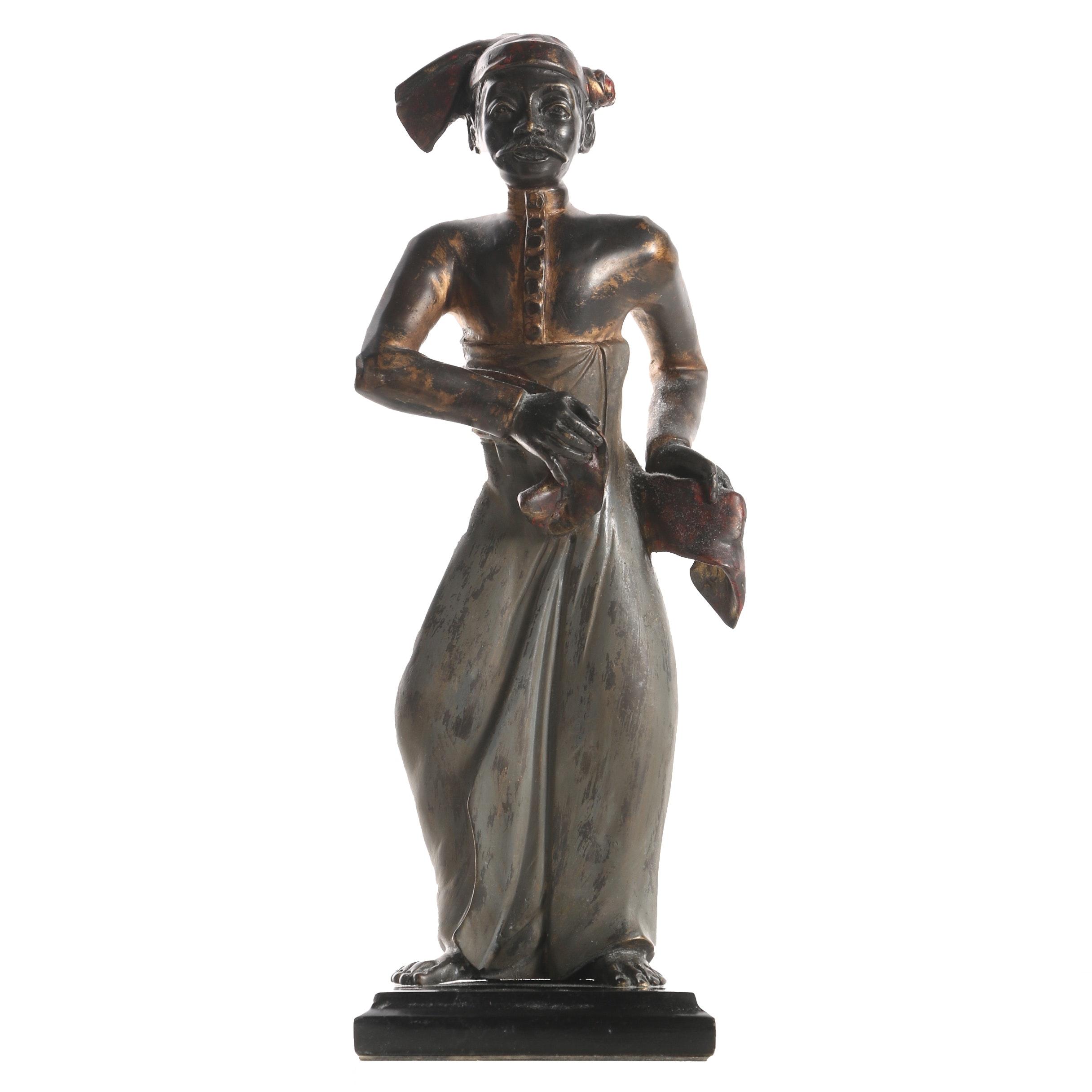 Brass Sculpture of Indonesian Style Figure