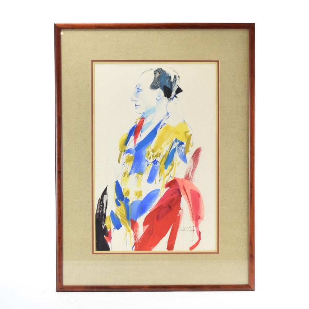 """Niel DiTeresea Watercolor Painting """"Matador"""""""