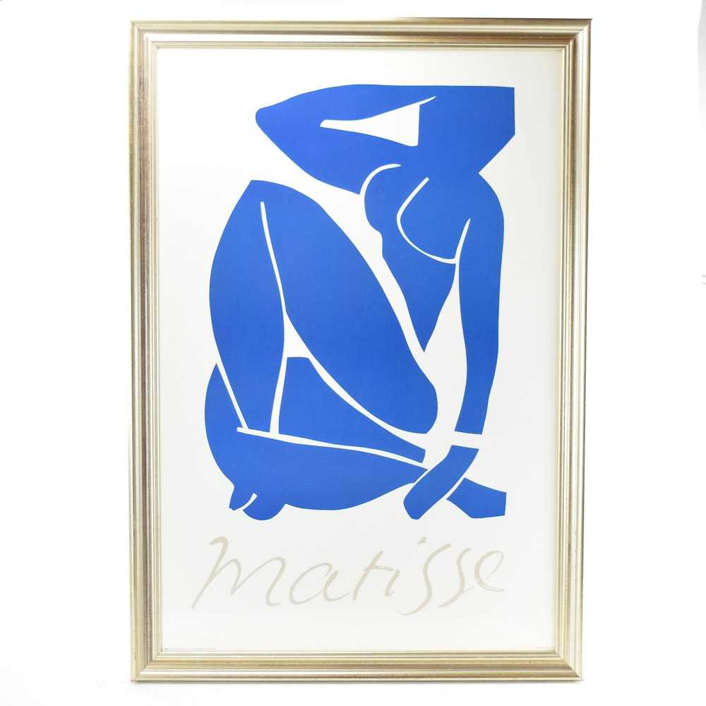 "1992 Offset Lithograph After Henri Matisse ""Blue Nude II"""