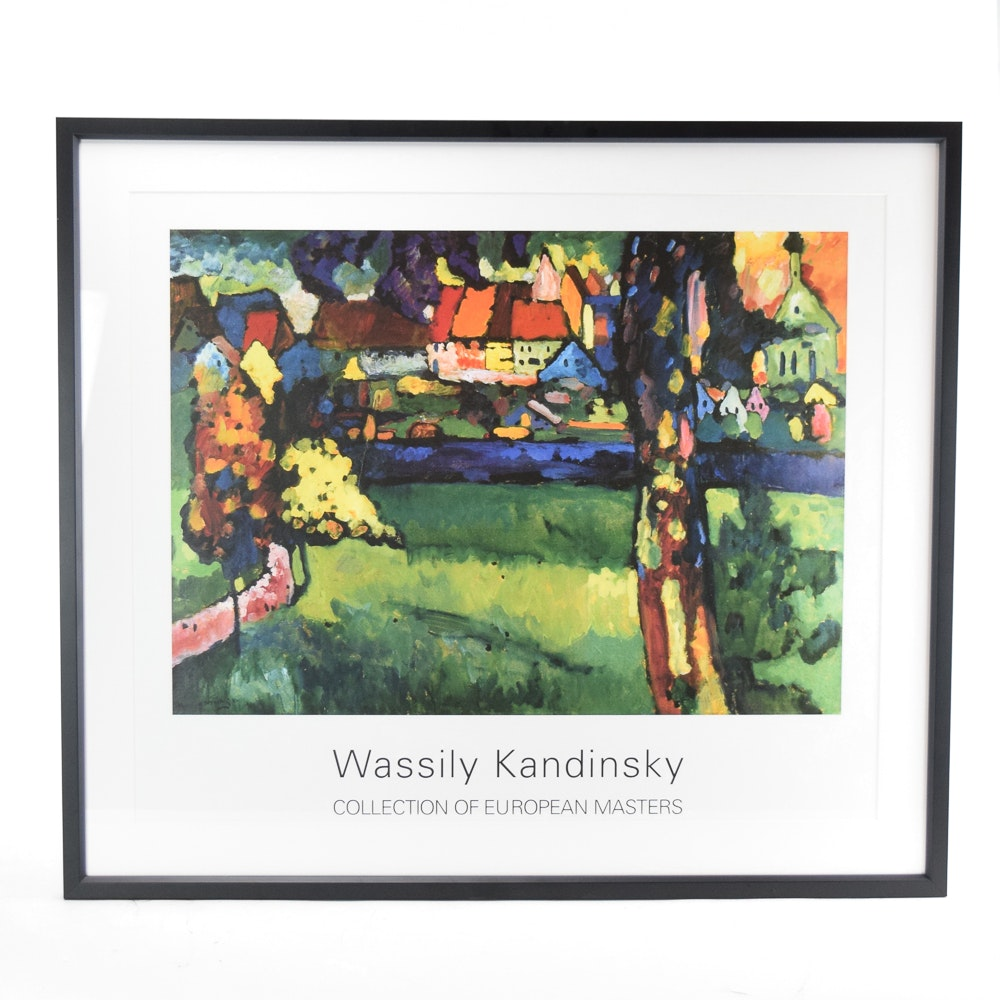"Reproduction Offset Lithograph After Wassily Kandinsky ""Murnau 1909"""
