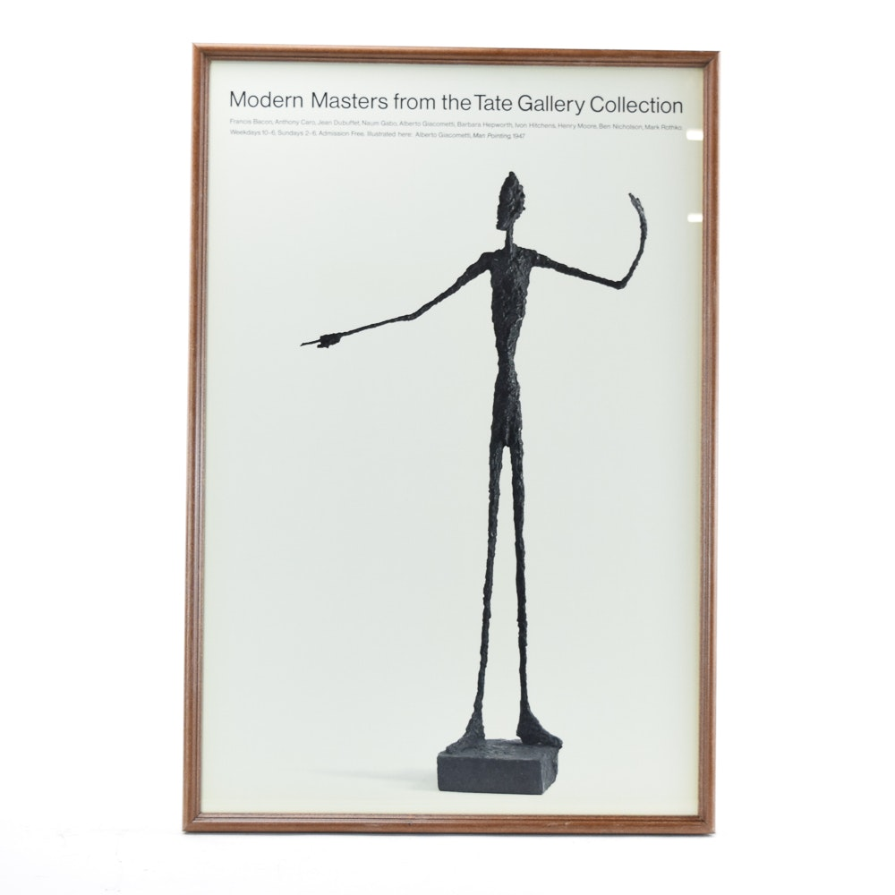 "Offset Lithograph Poster ""Modern Masters from the Tate Gallery Collection"""